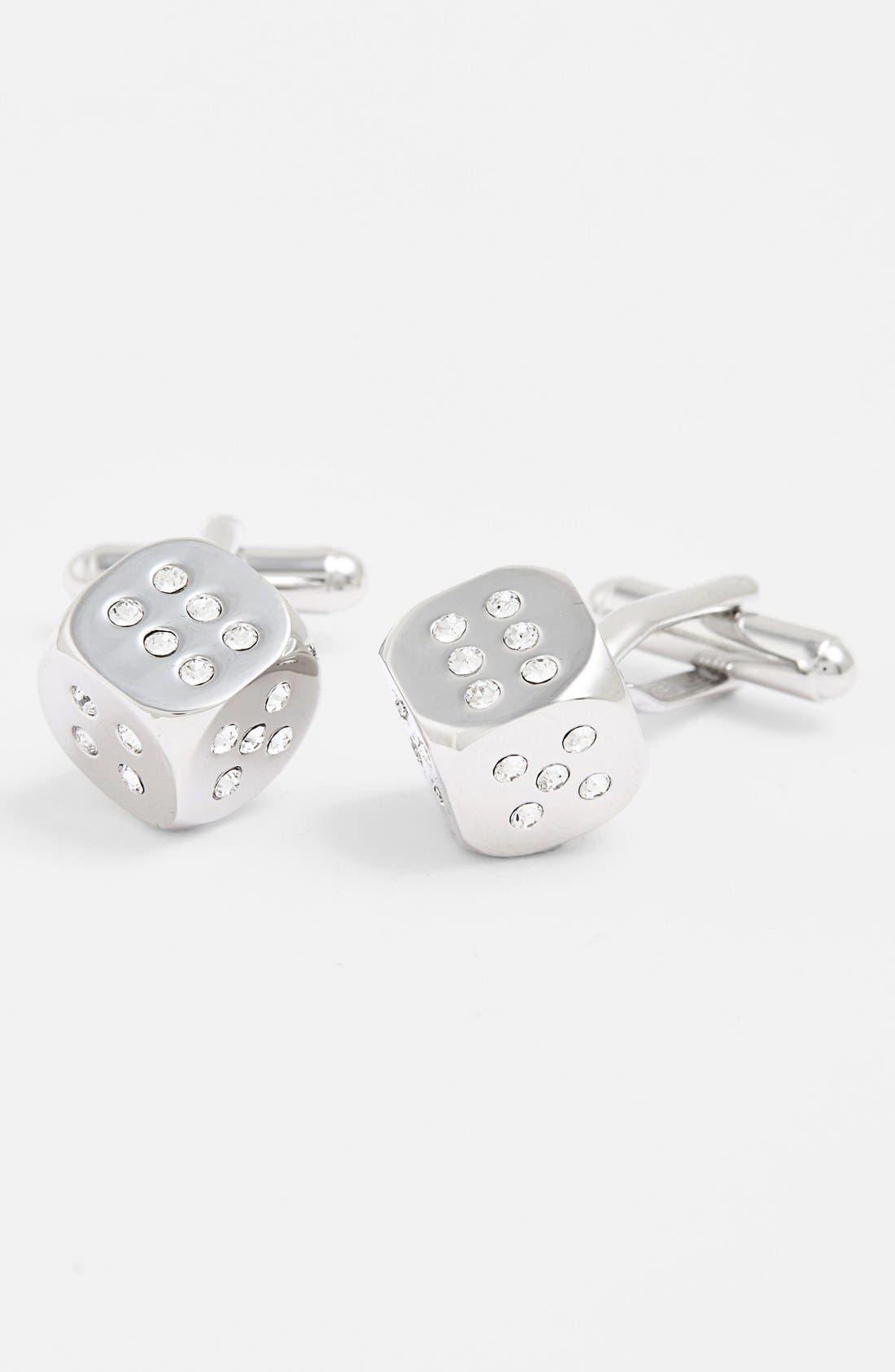 Dice Cuff Links,                         Main,                         color, Silver