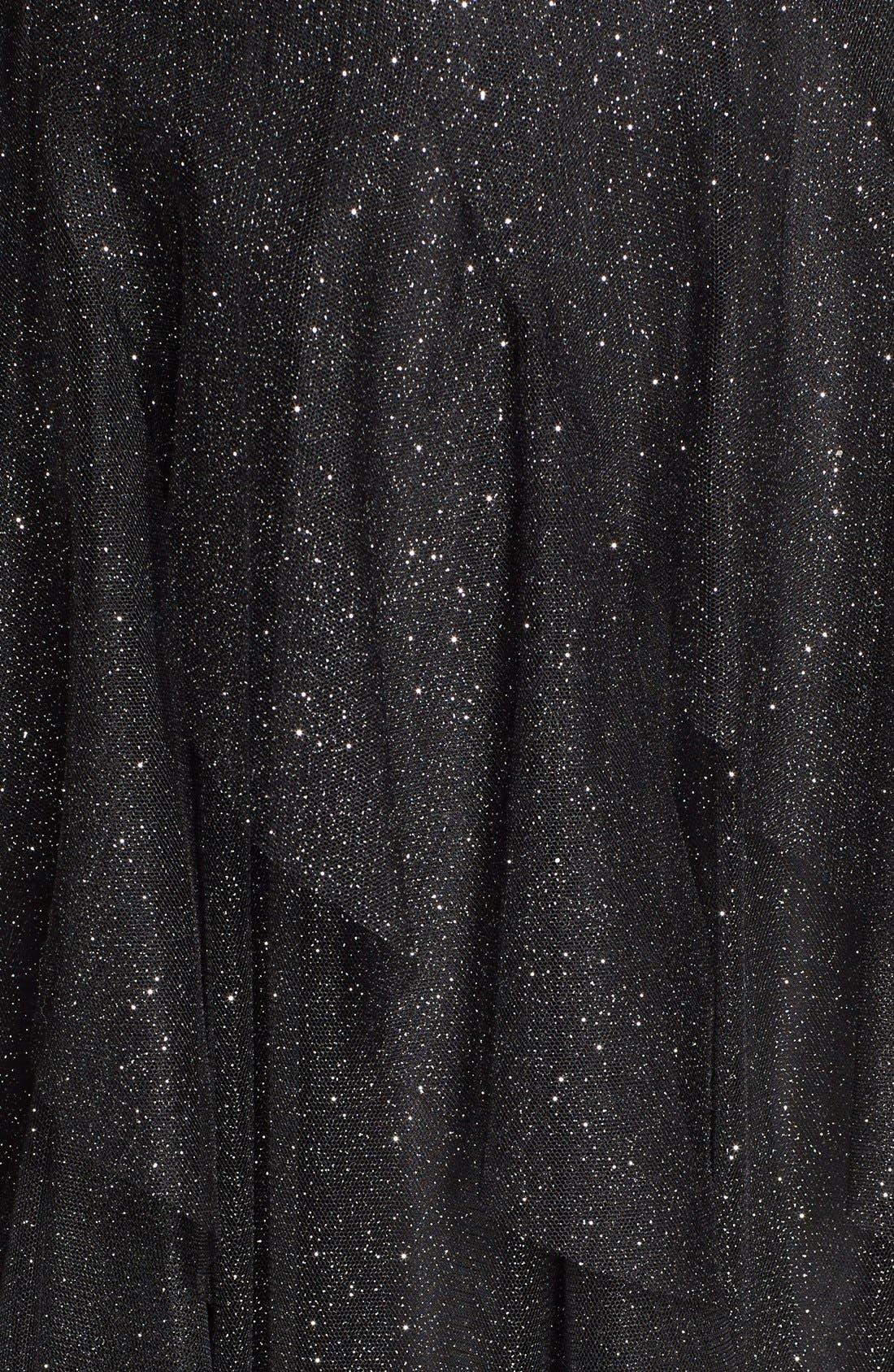 Alternate Image 3  - Hailey Logan Glitter Mesh Strapless Ballgown (Juniors)