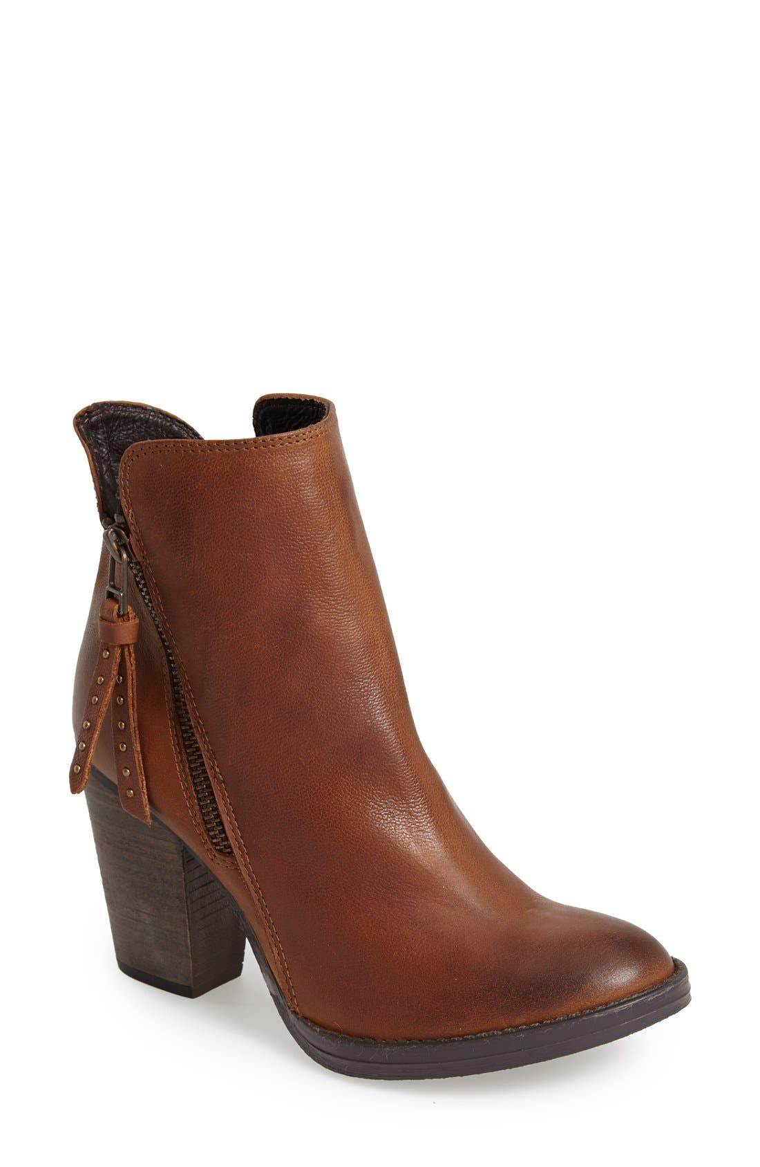 'Ryat' Leather Ankle Bootie,                         Main,                         color, Cognac Leather