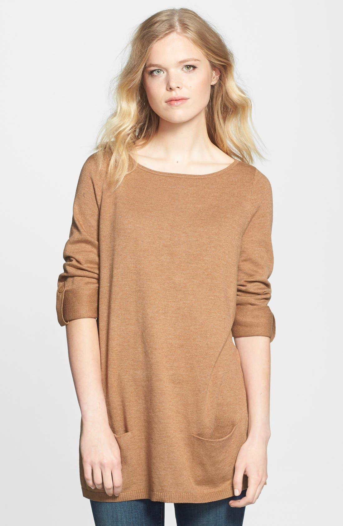 Caslon® Knit Tunic (Regular & Petite)