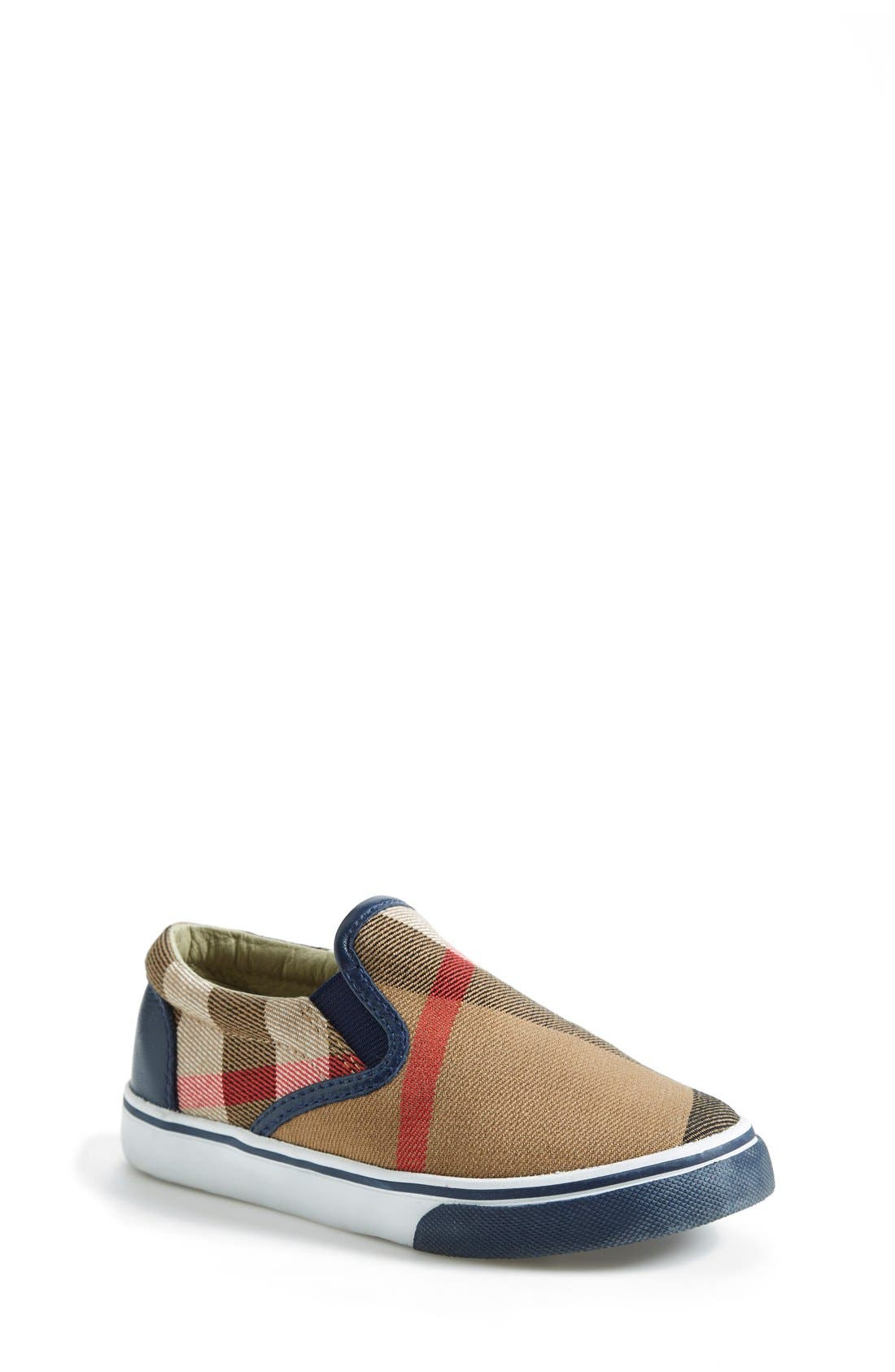 Burberry Linus Slip-On (Walker, Toddler & Little Kid)