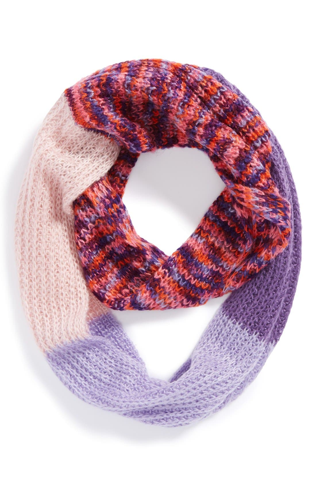 Alternate Image 1 Selected - Capelli of New York Colorblock Infinity Scarf (Girls)