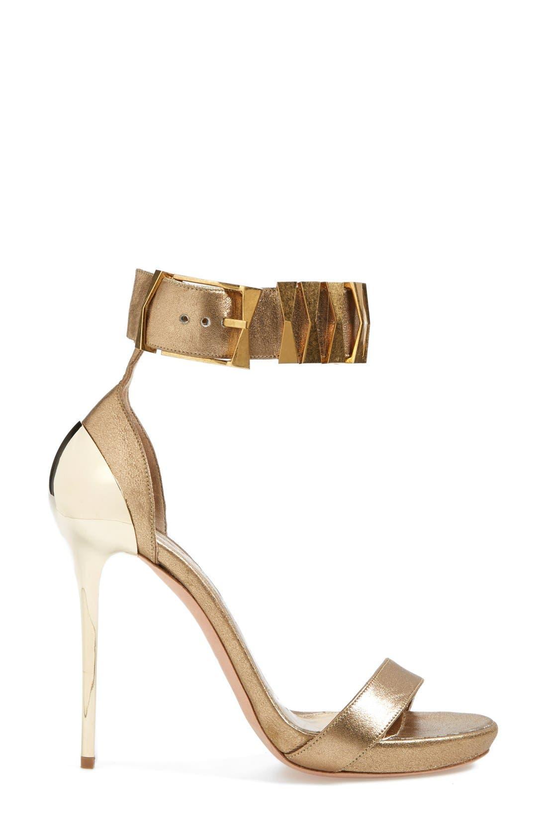 Alternate Image 4  - Alexander McQueen Metal Heel Sandal (Women)