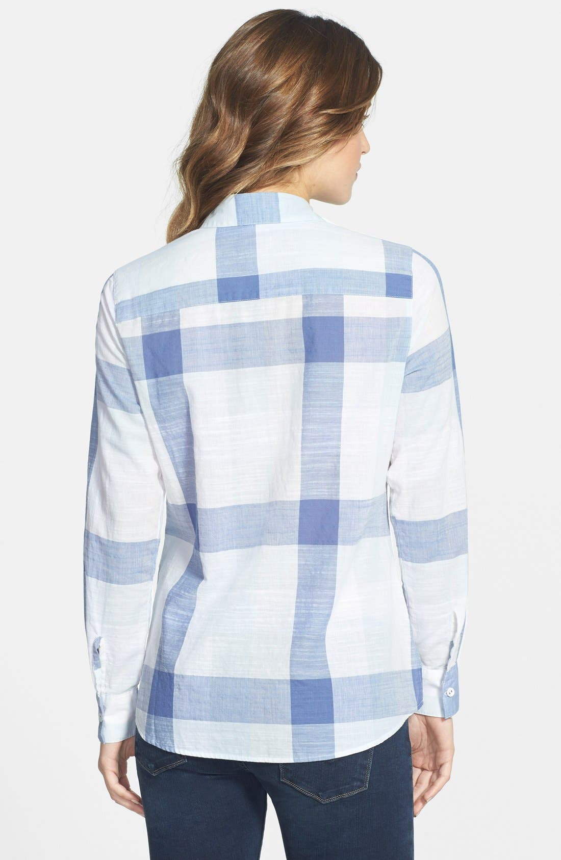 Alternate Image 2  - Foxcroft Buffalo Check Cotton Shirt (Regular & Petite)