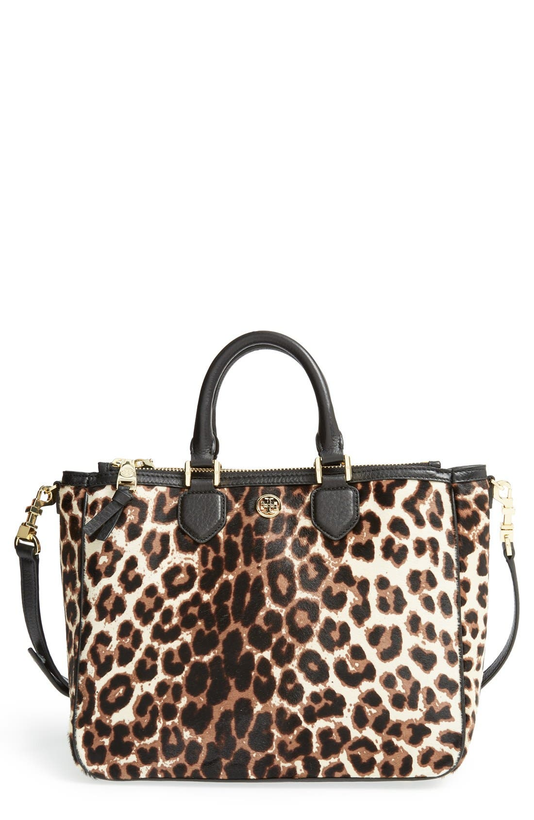 Alternate Image 1 Selected - Tory Burch 'Robinson' Genuine Calf Hair & Leather Tote