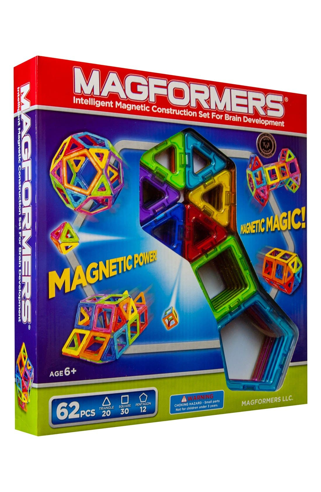 Main Image - Magformers 'Rainbow' Magnetic 3D Construction Set