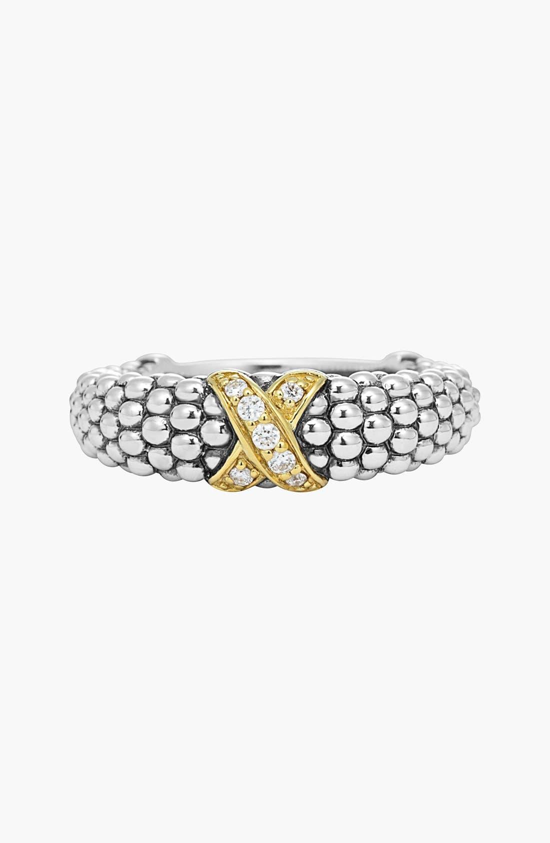 Alternate Image 3  - LAGOS 'X' Diamond & Caviar™' Two Tone Ring