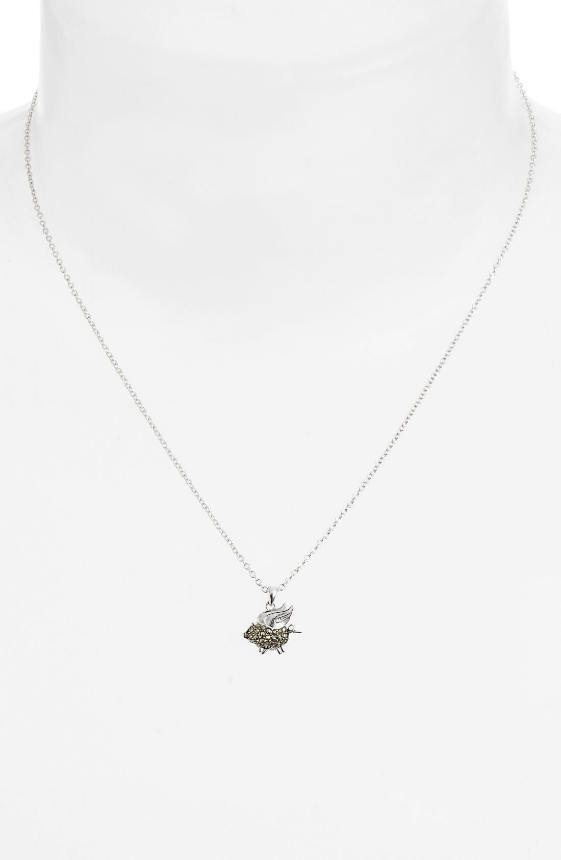Alternate Image 2  - Judith Jack 'Charmed Life' Boxed Pig Pendant Necklace