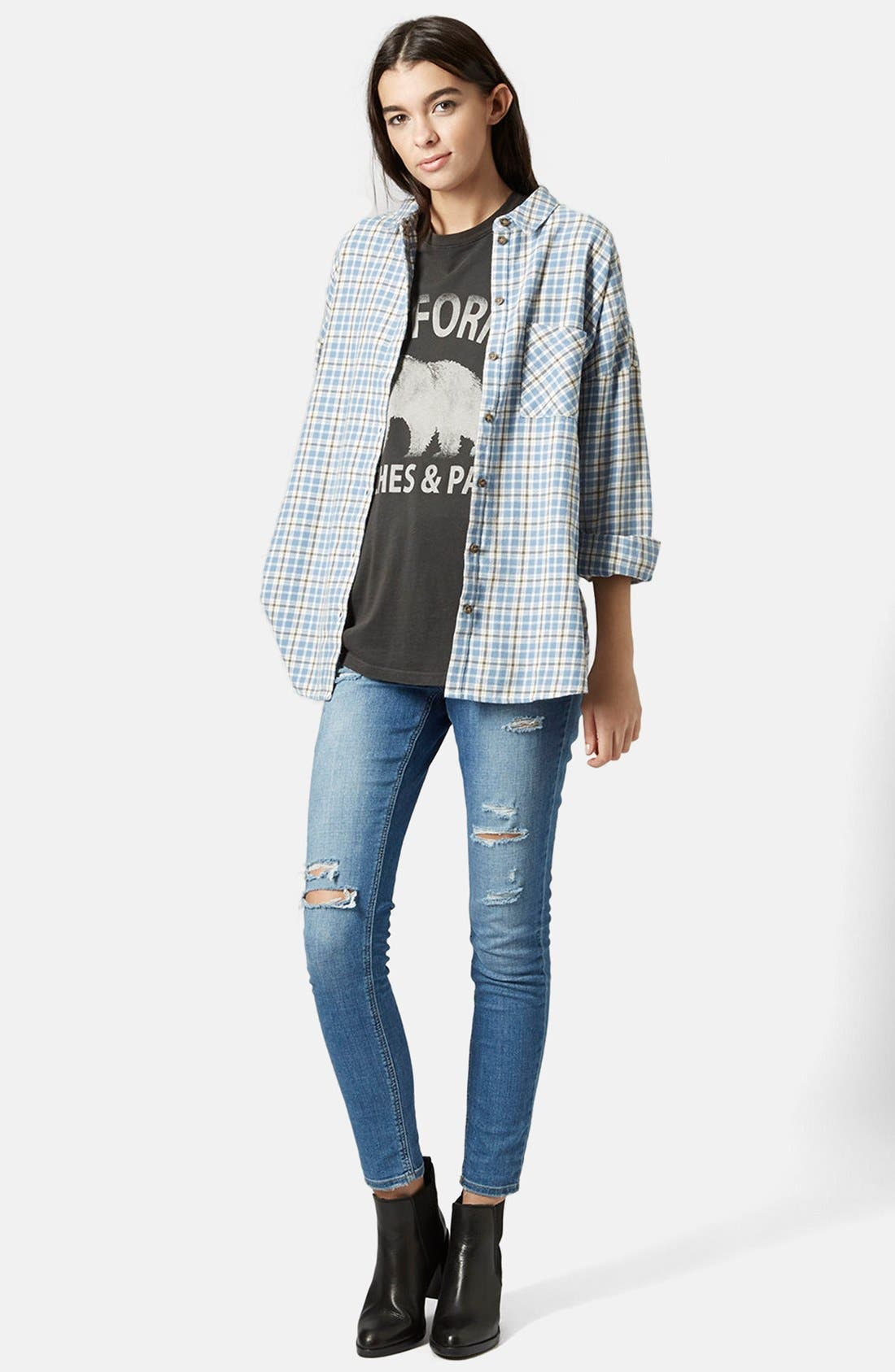 Alternate Image 5  - Topshop 'George Bobbi' Oversize Check Shirt