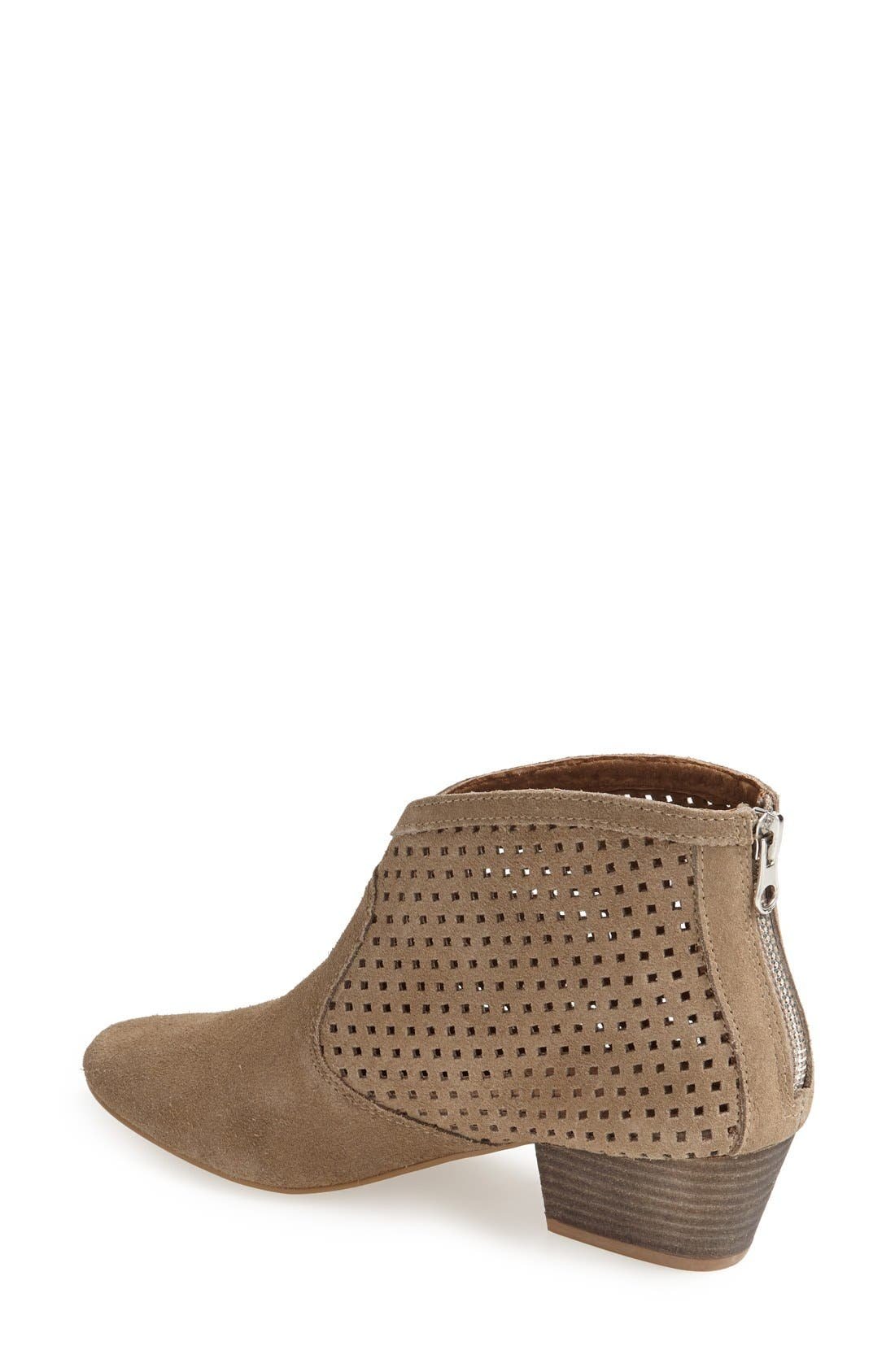 Alternate Image 2  - SIXTYSEVEN 'Sofia' Perforated Suede Bootie (Women)