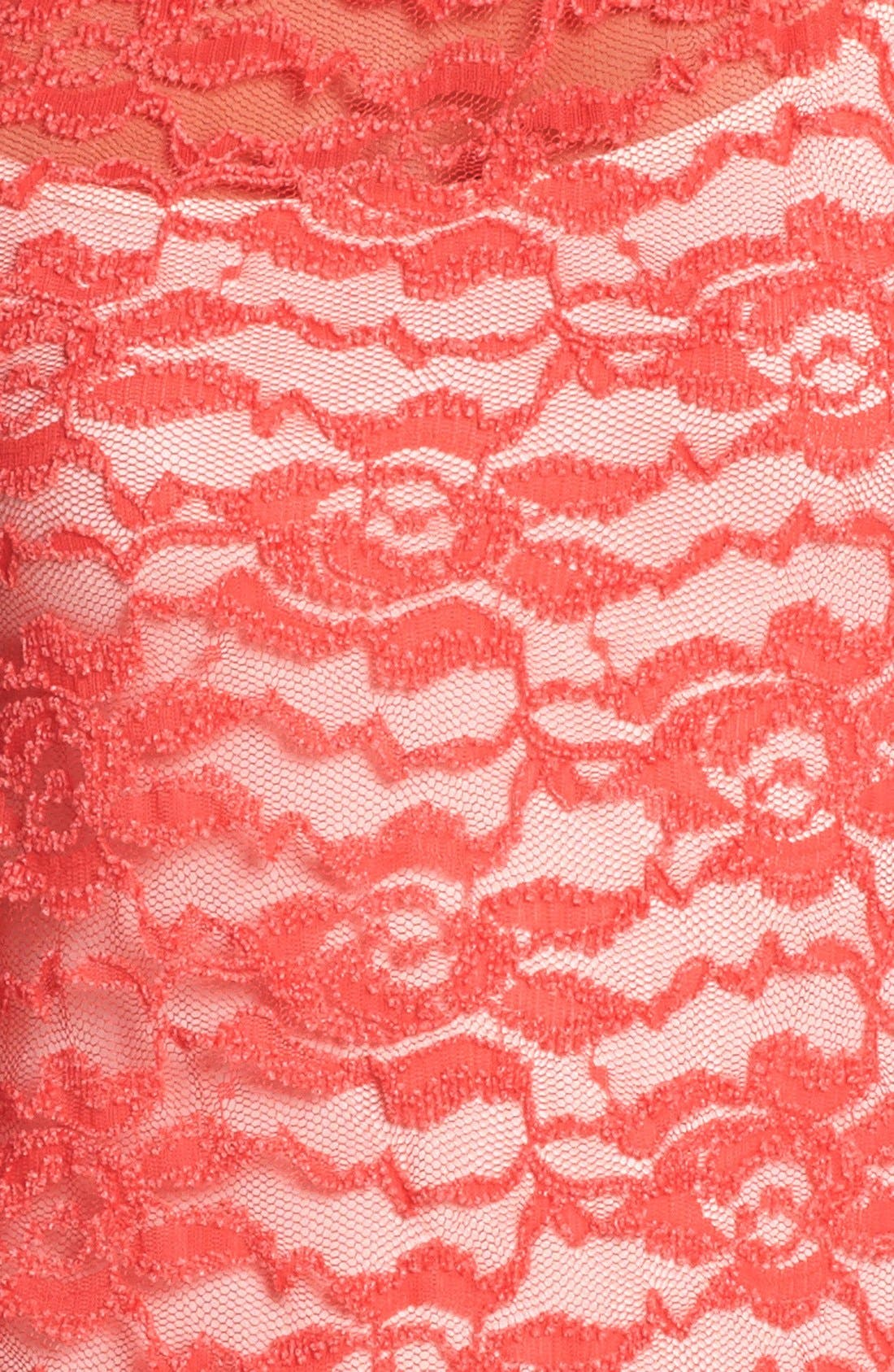 Alternate Image 3  - Pleione Floral Lace Tee