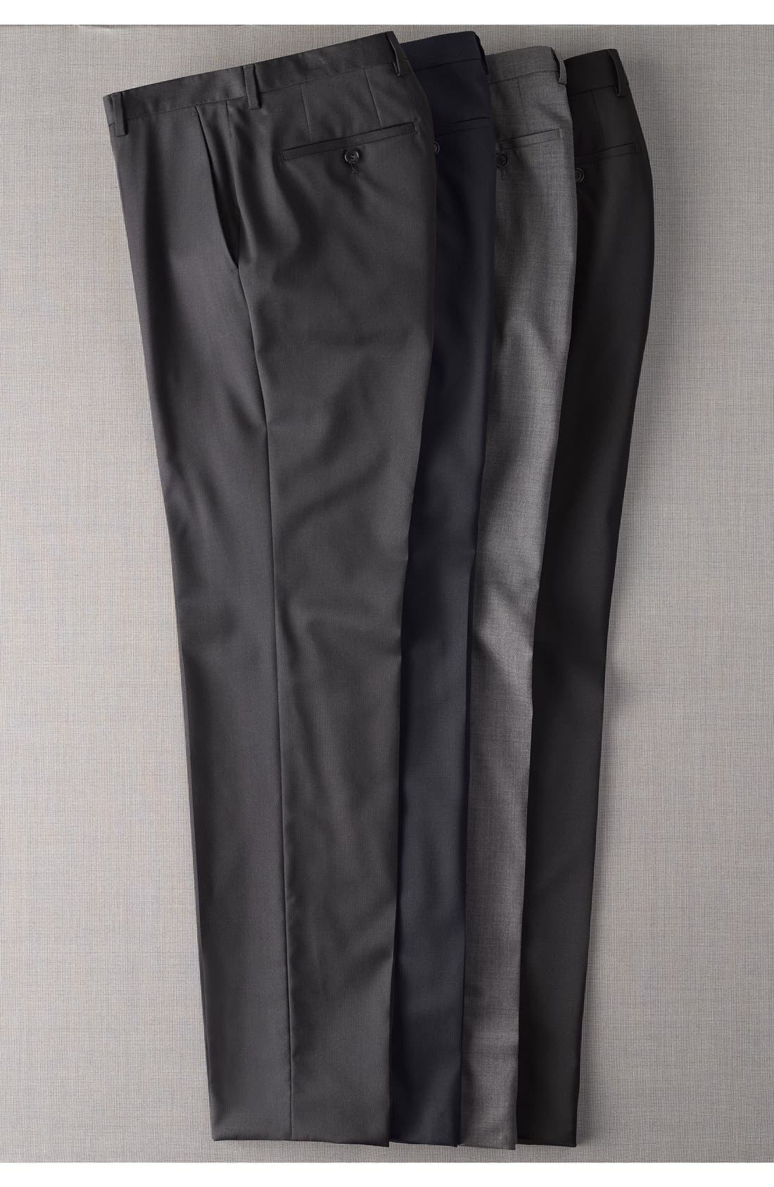 Alternate Image 5  - BOSS 'Sharp' Slim Fit Flat Front Wool Trousers