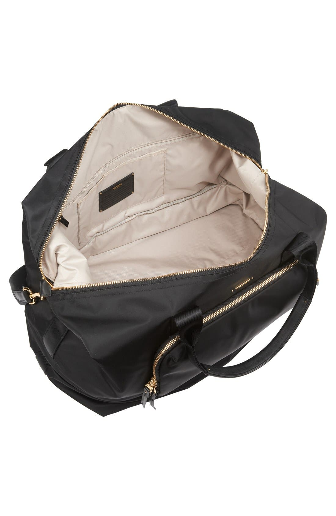 Durban Expandable Duffel Bag,                             Alternate thumbnail 3, color,                             Black