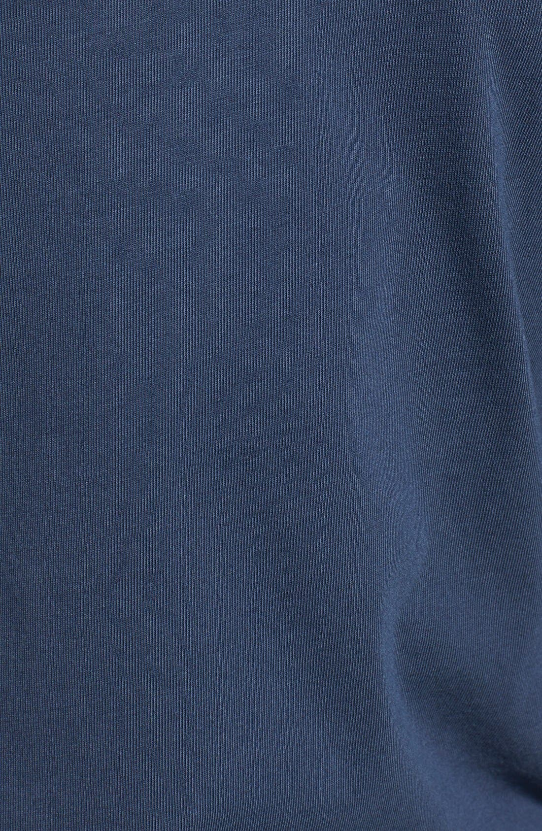 Logo Pocket Long Sleeve Crewneck T-Shirt,                             Alternate thumbnail 3, color,                             Vineyard Navy