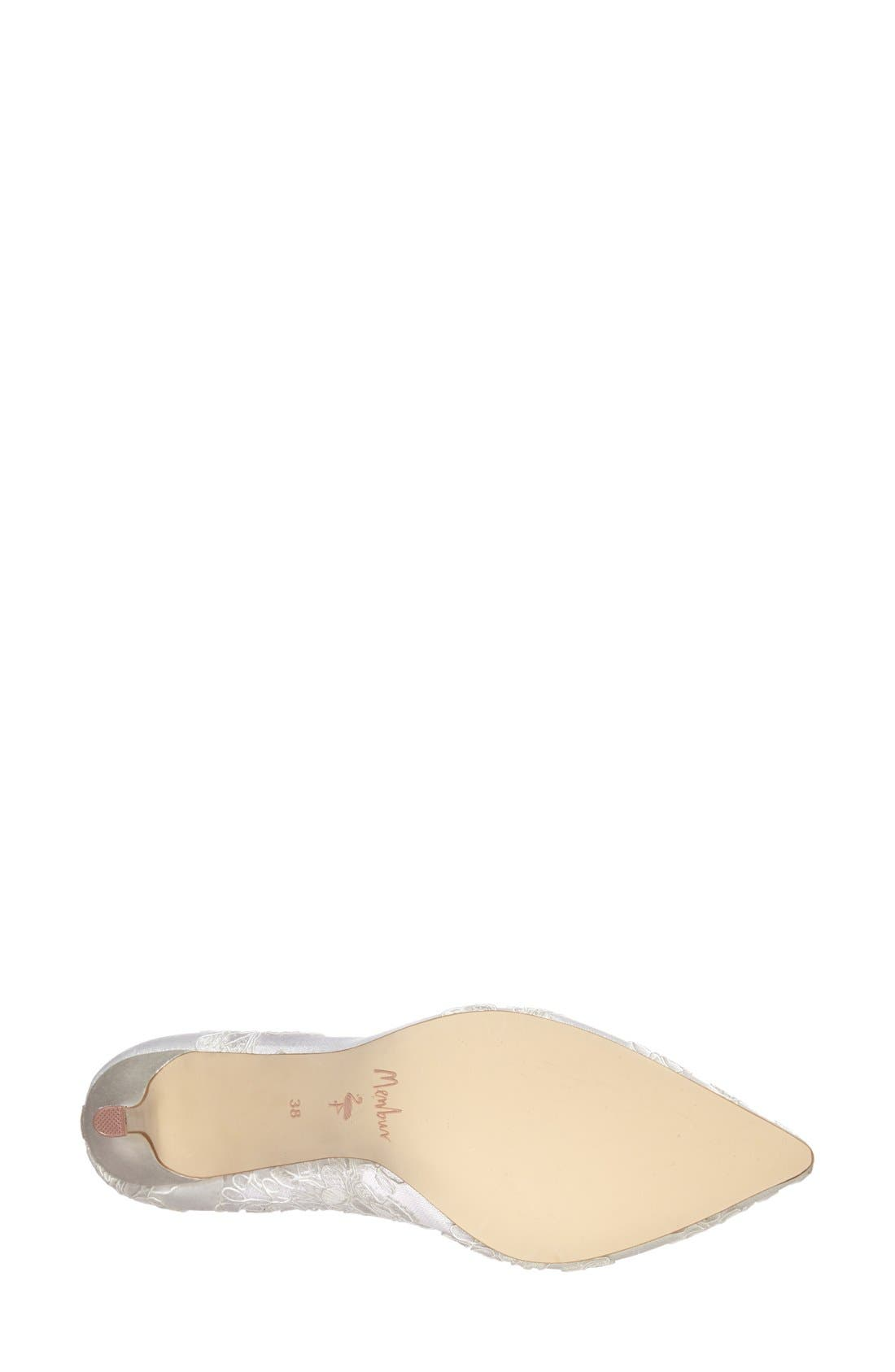 Alternate Image 4  - Menbur 'Flora' Lace Overlay Pointy Toe Pump (Women)