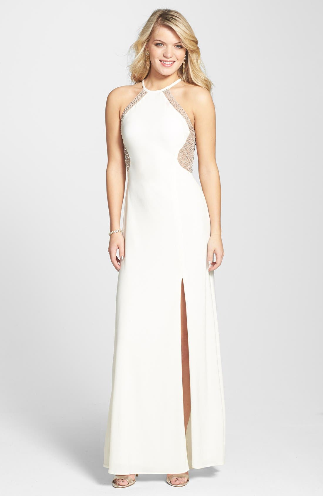 Main Image - Morgan & Co. Illusion Back Gown