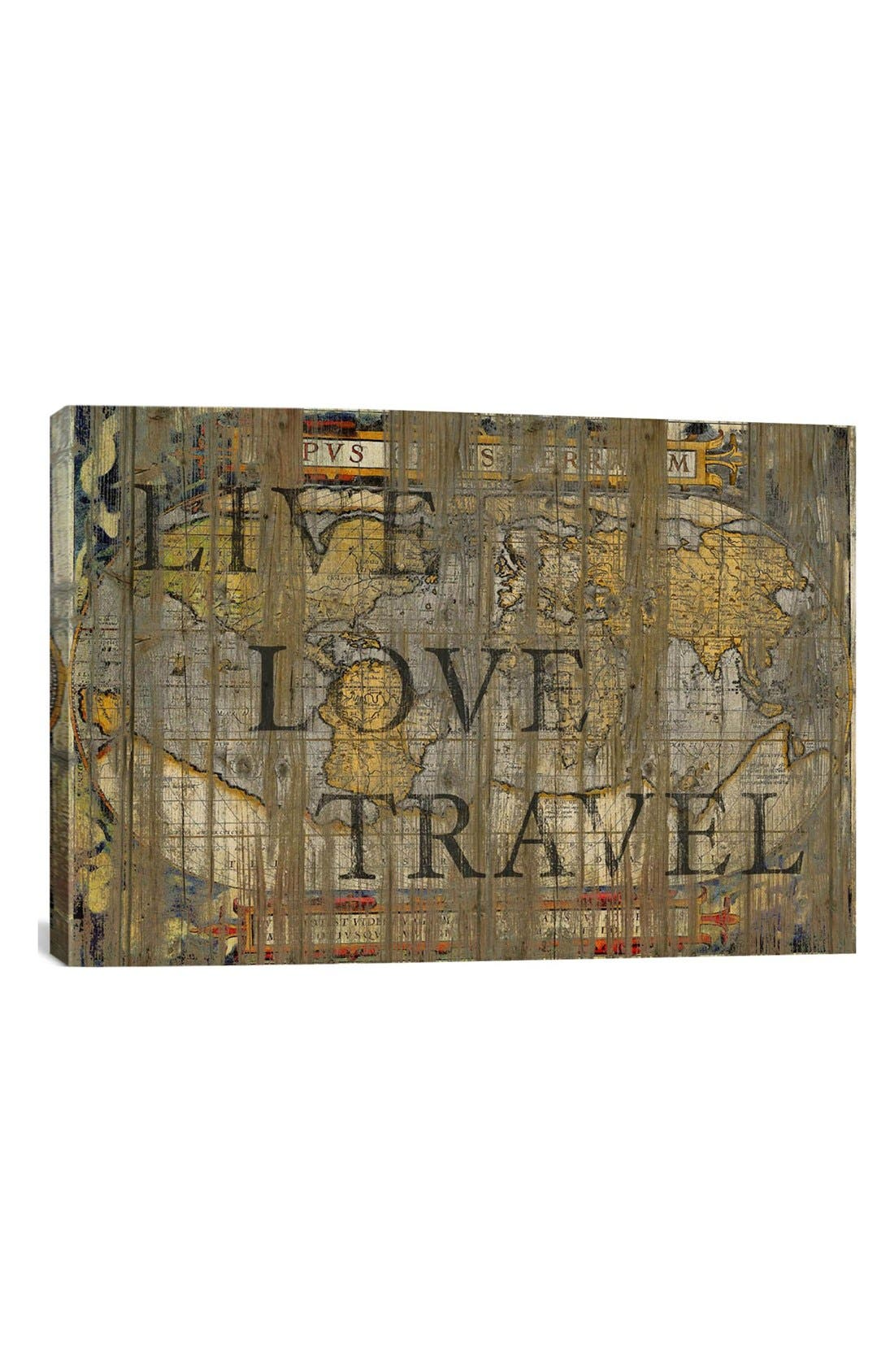 'Live Love Travel - Diego Tirigall' Giclée Print Canvas Art,                         Main,                         color, Brown/ Multi