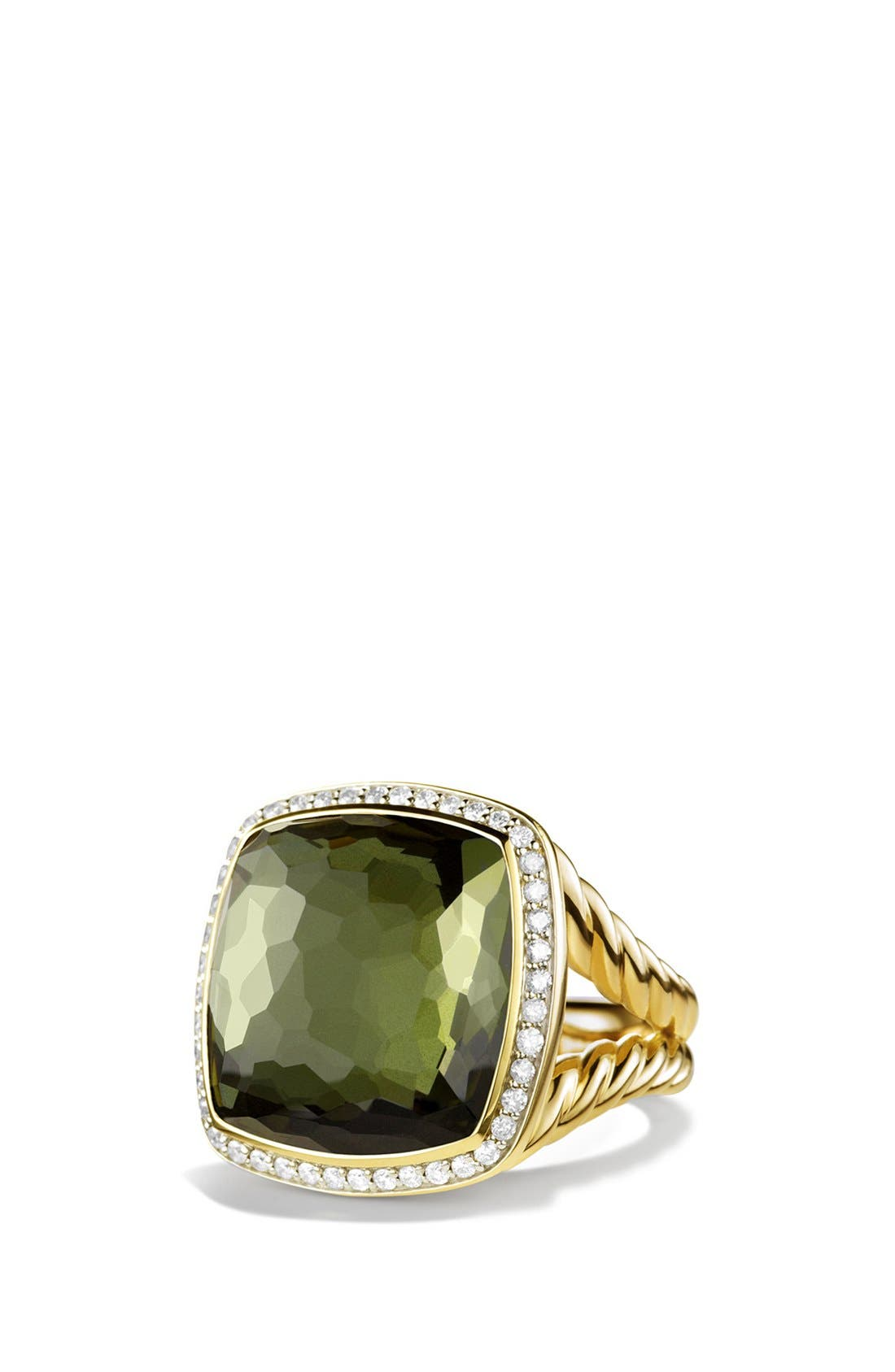 Alternate Image 1 Selected - David Yurman 'Albion' Ring with Citrine and Diamonds in Gold
