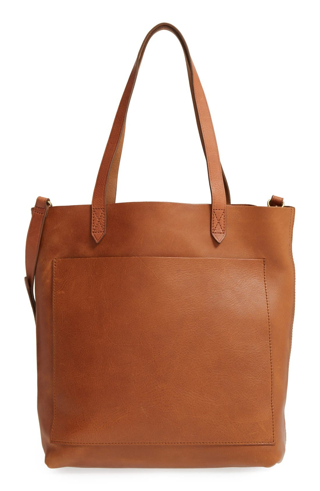 Alternate Image 1 Selected - Madewell Medium Leather Transport Tote