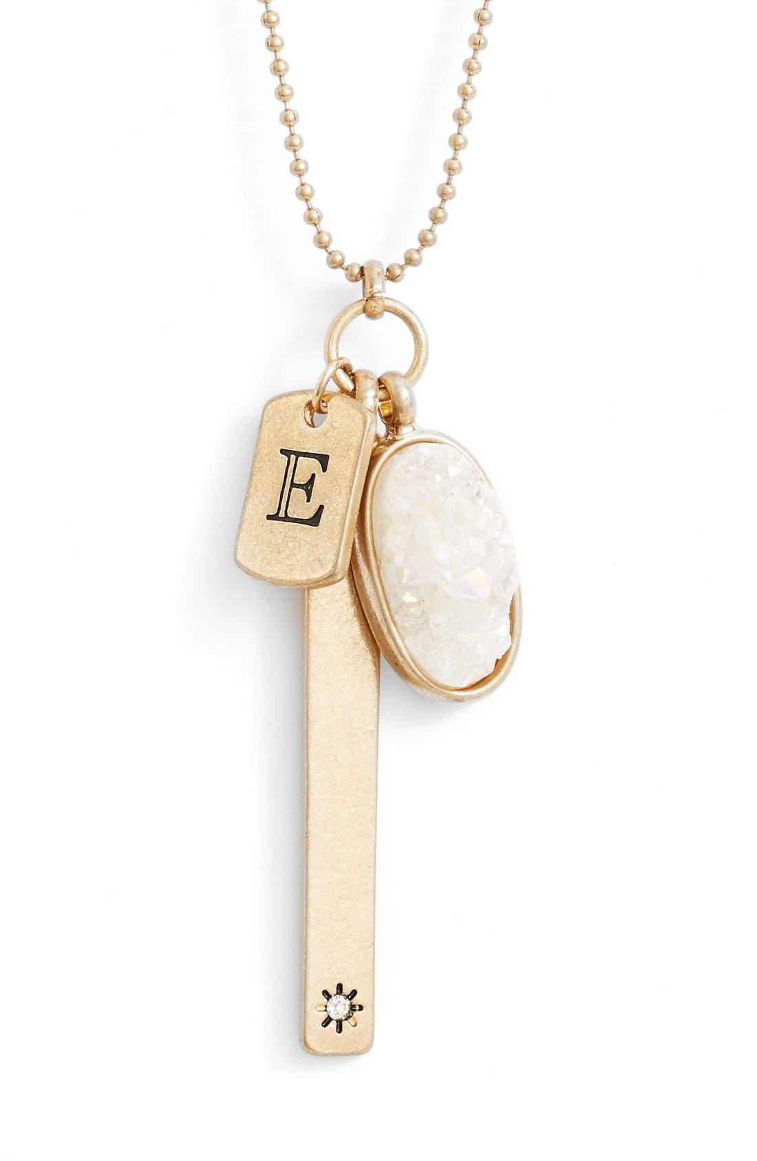 Alternate Image 2  - Treasure&Bond Initial Cluster Pendant Necklace