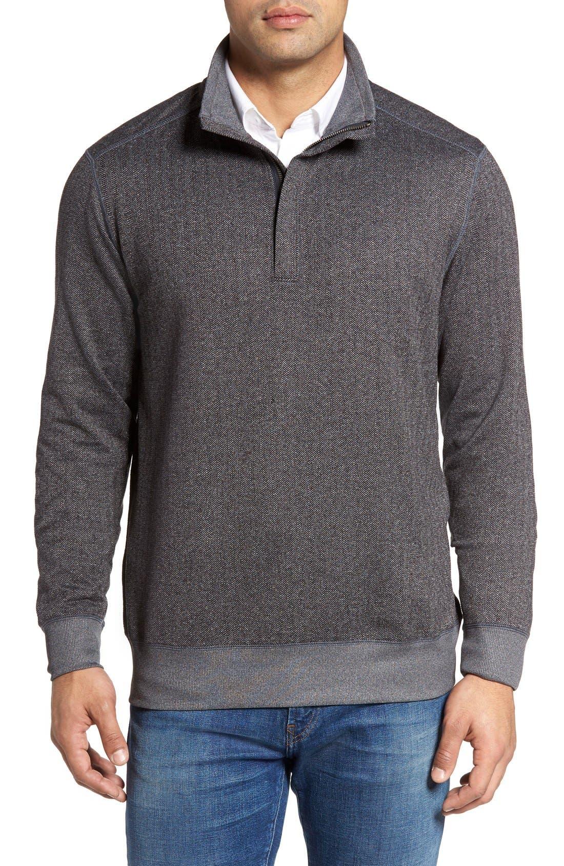 Pro Formance Quarter Zip Sweater,                             Main thumbnail 1, color,                             Coal Heather