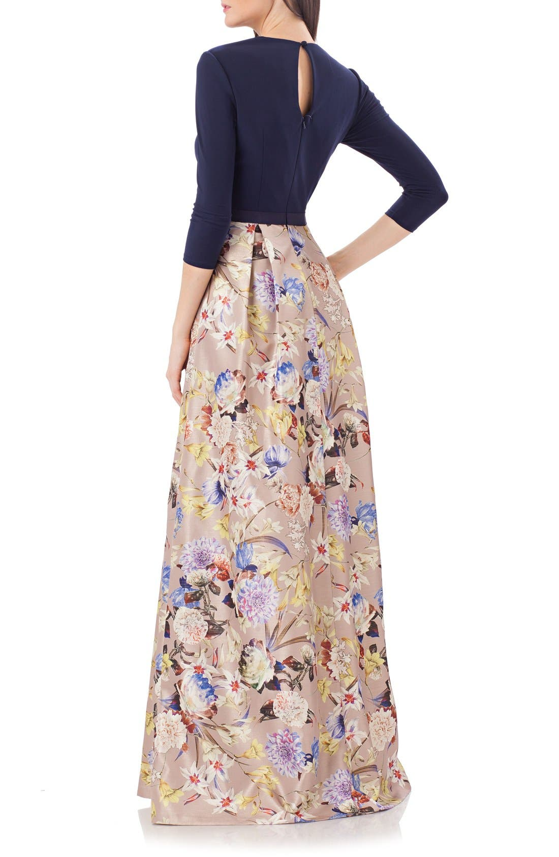 Alternate Image 2  - JS Collections Long Sleeve Gown
