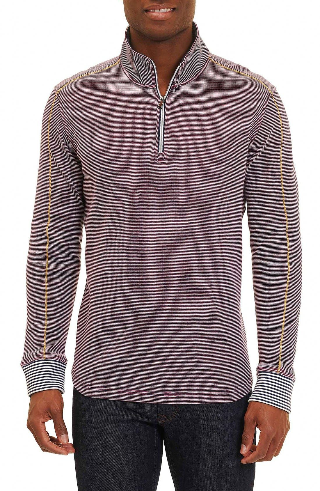 Poole Regular Fit Quarter Zip Pullover,                             Main thumbnail 1, color,                             Navy