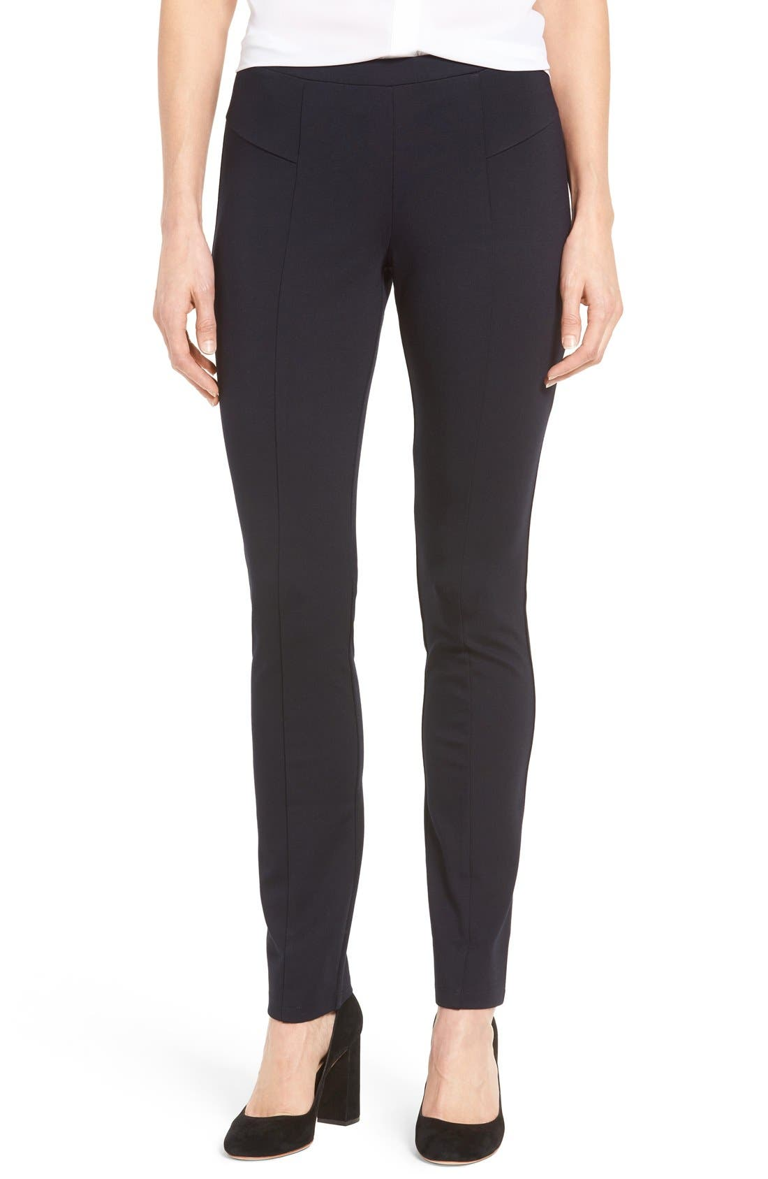 'The Perfect Ponte' Pants,                             Main thumbnail 1, color,                             Midnight