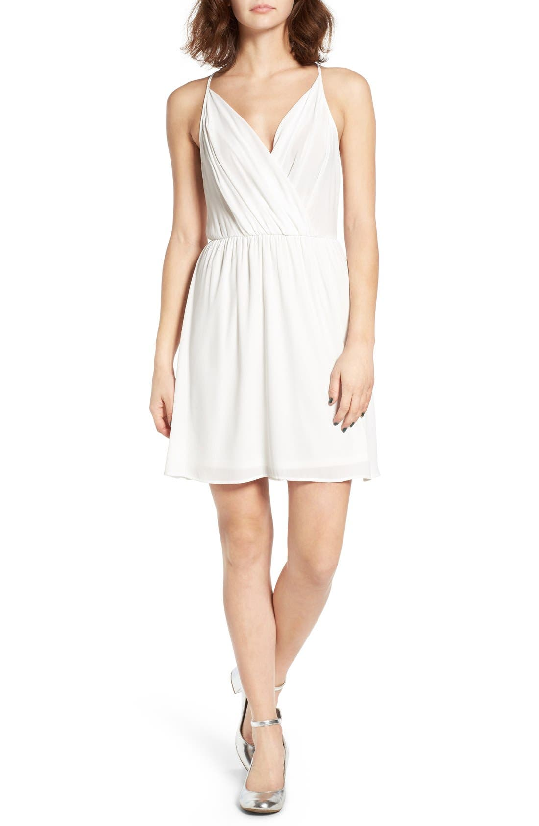 Main Image - Lush Surplice Camisole Dress