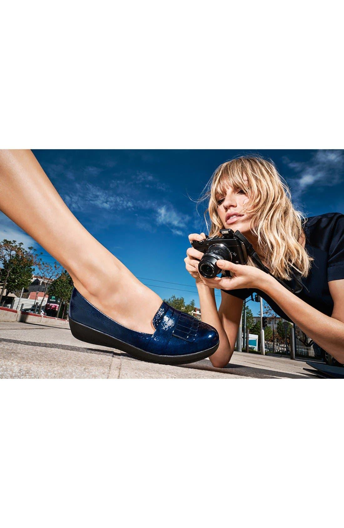 Alternate Image 6  - FitFlop Fringey Loafer (Women)