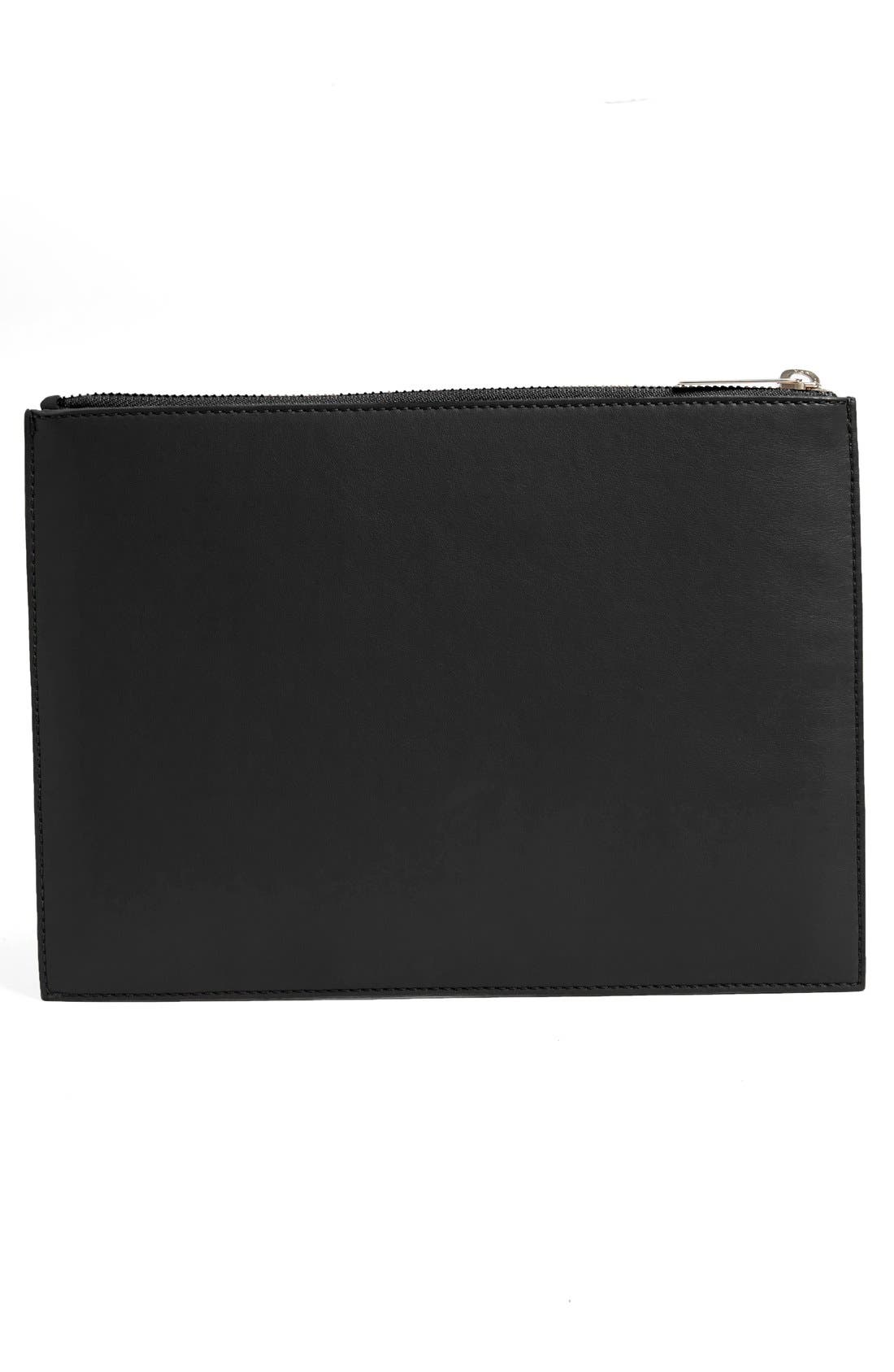 Alternate Image 2  - Stella McCartney Lamé Stars Faux Leather Zip Pouch