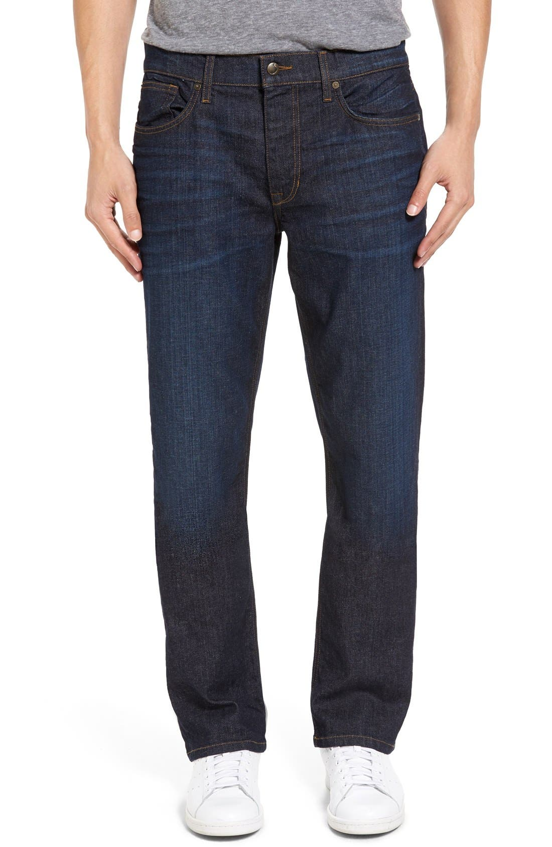 Classic Straight Fit Jeans,                             Main thumbnail 1, color,                             Timothy
