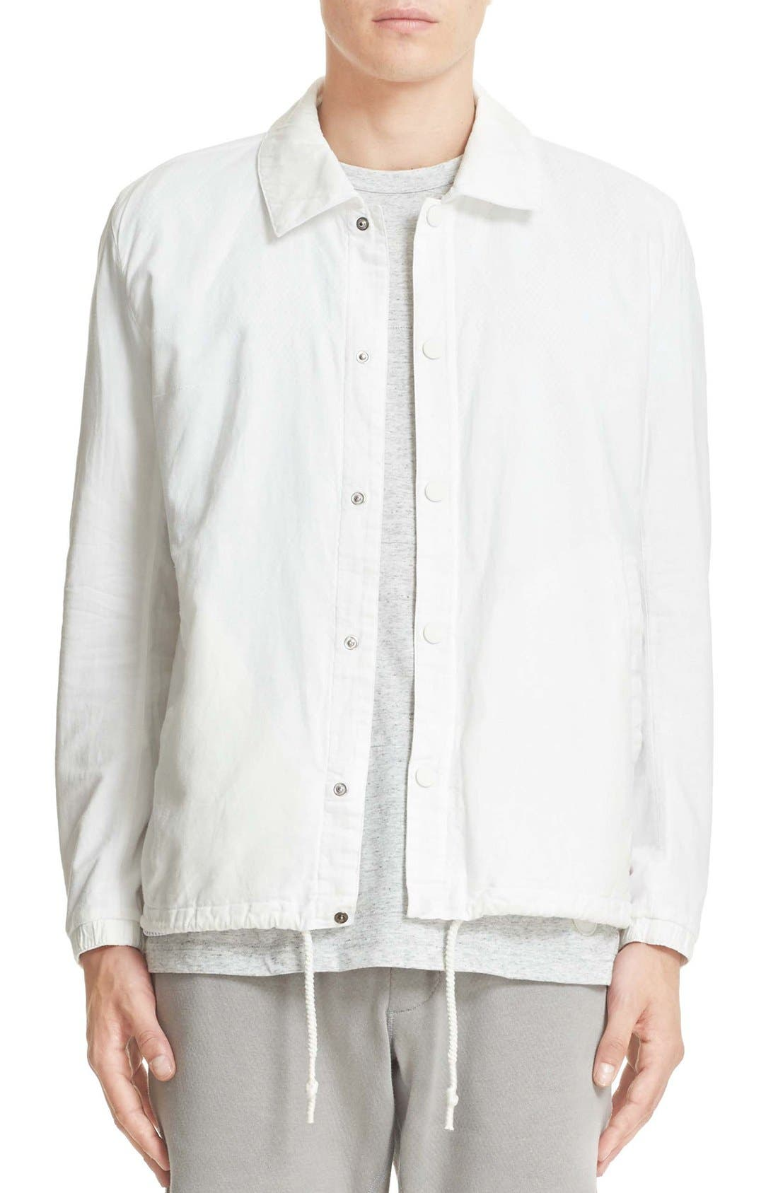 Cotton & Linen Coach Jacket,                             Main thumbnail 1, color,                             Off White
