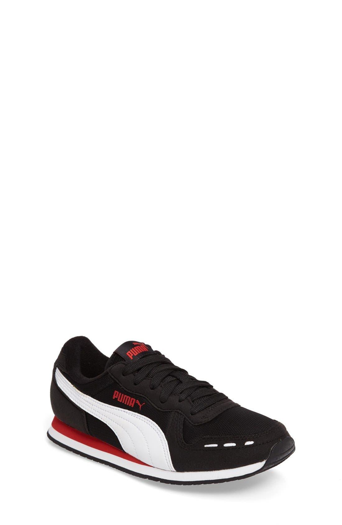 Cabana Racer Sneaker,                             Main thumbnail 1, color,                             Puma Black-Puma White