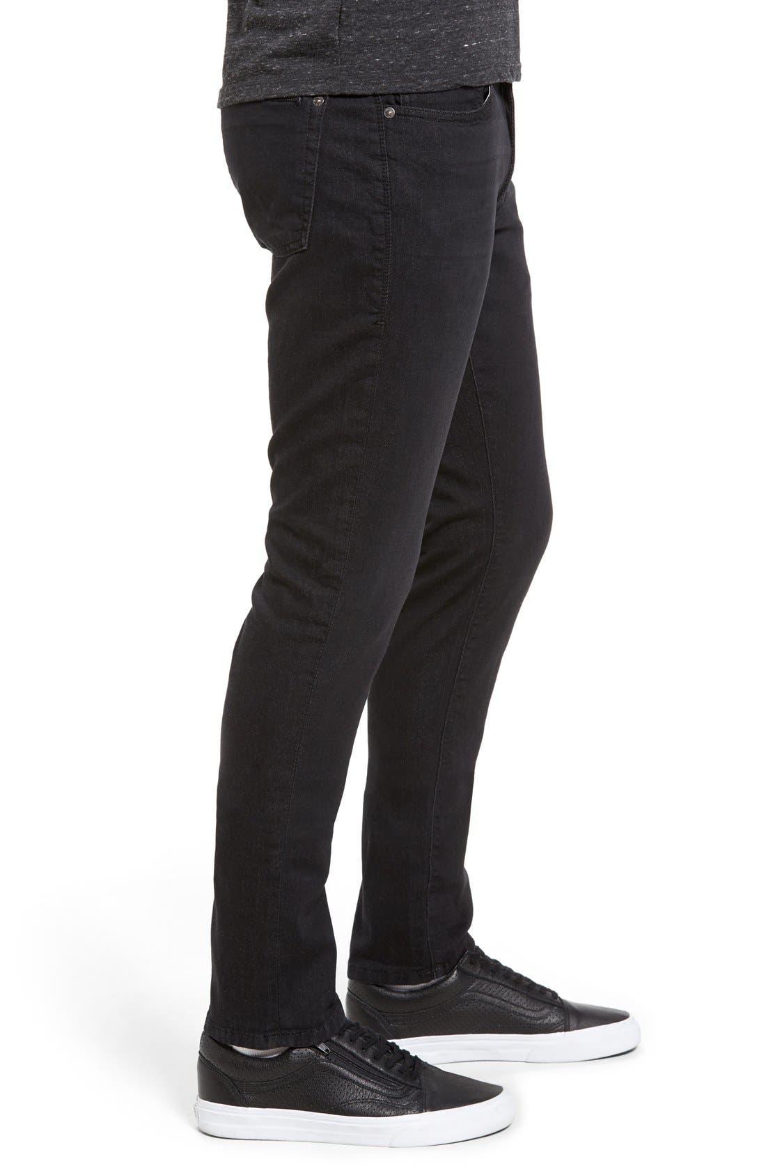 Torino Slim Fit Jeans,                             Alternate thumbnail 3, color,                             Raven Black