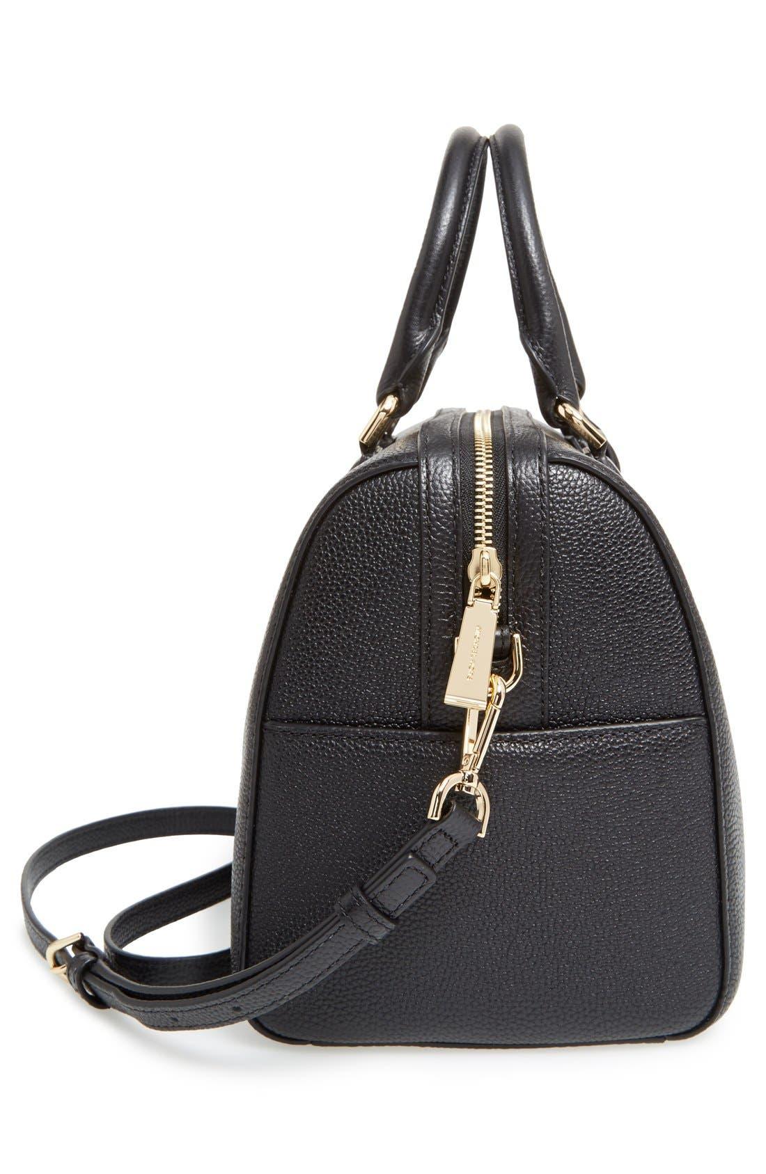 Medium Mercer Duffel Bag,                             Alternate thumbnail 5, color,                             Black/ Gold