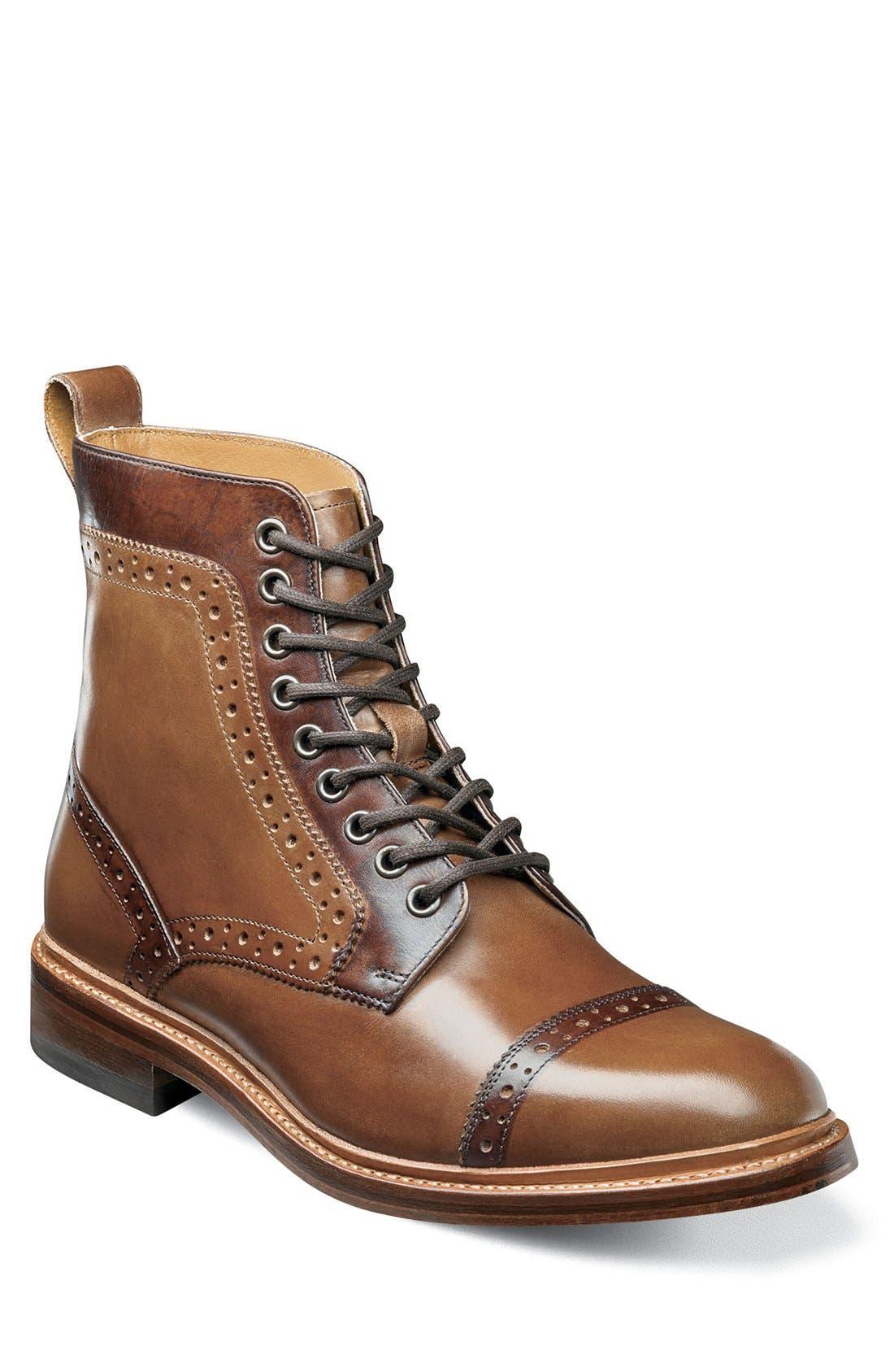 Main Image - Stacy Adams Madison II Cap Toe Lace Boot (Men)