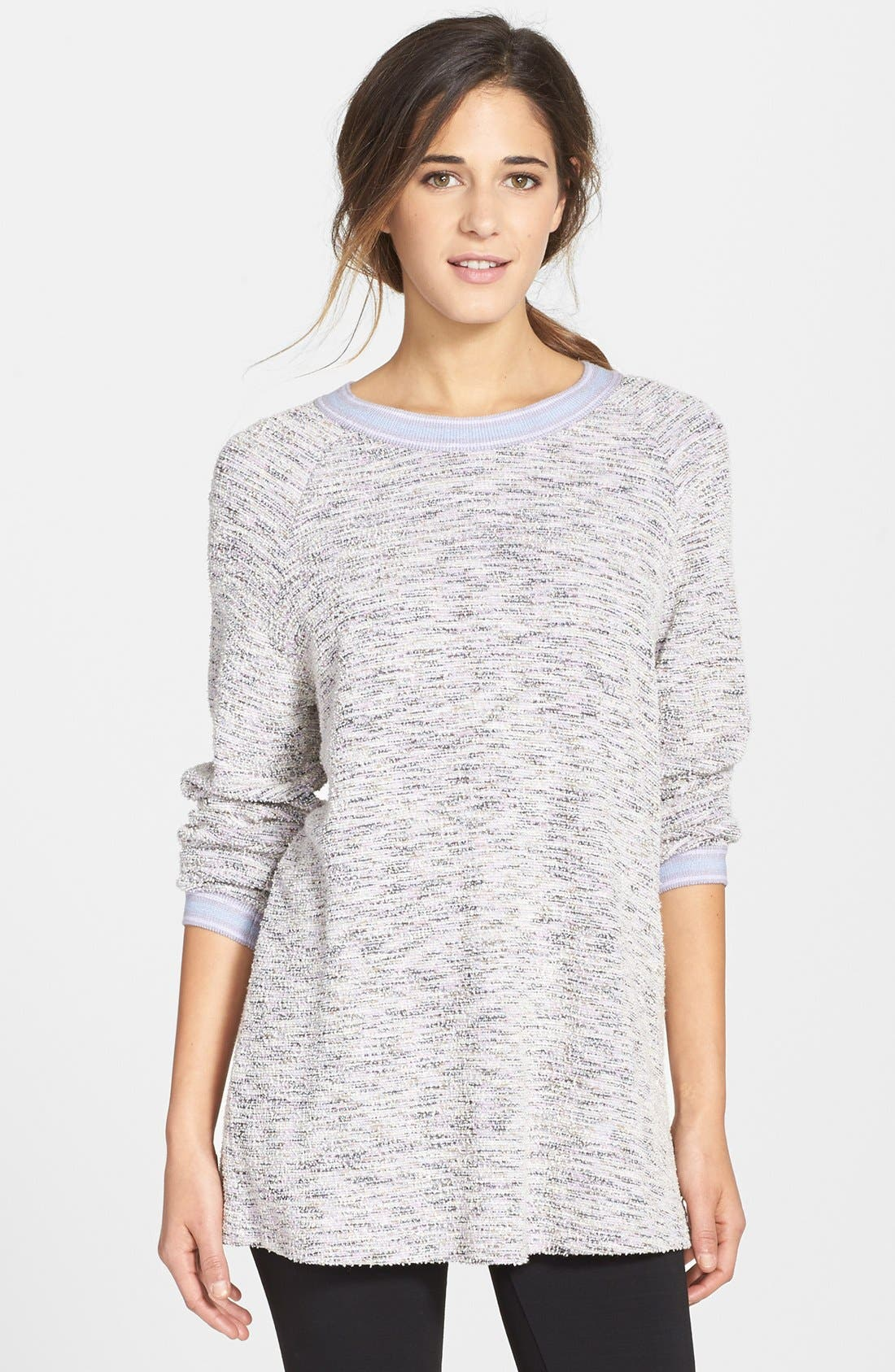 Alternate Image 1 Selected - Only Hearts Oversize Bouclé Knit Sweatshirt