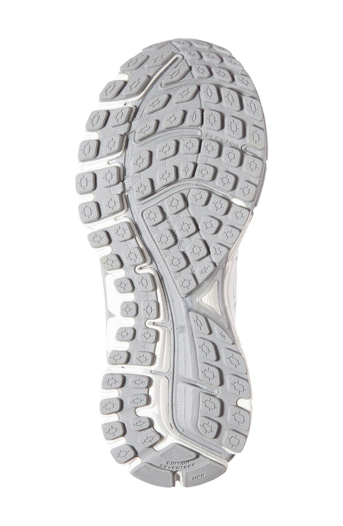 Adrenaline GTS 17 Running Shoe,                             Alternate thumbnail 4, color,                             White/ Silver