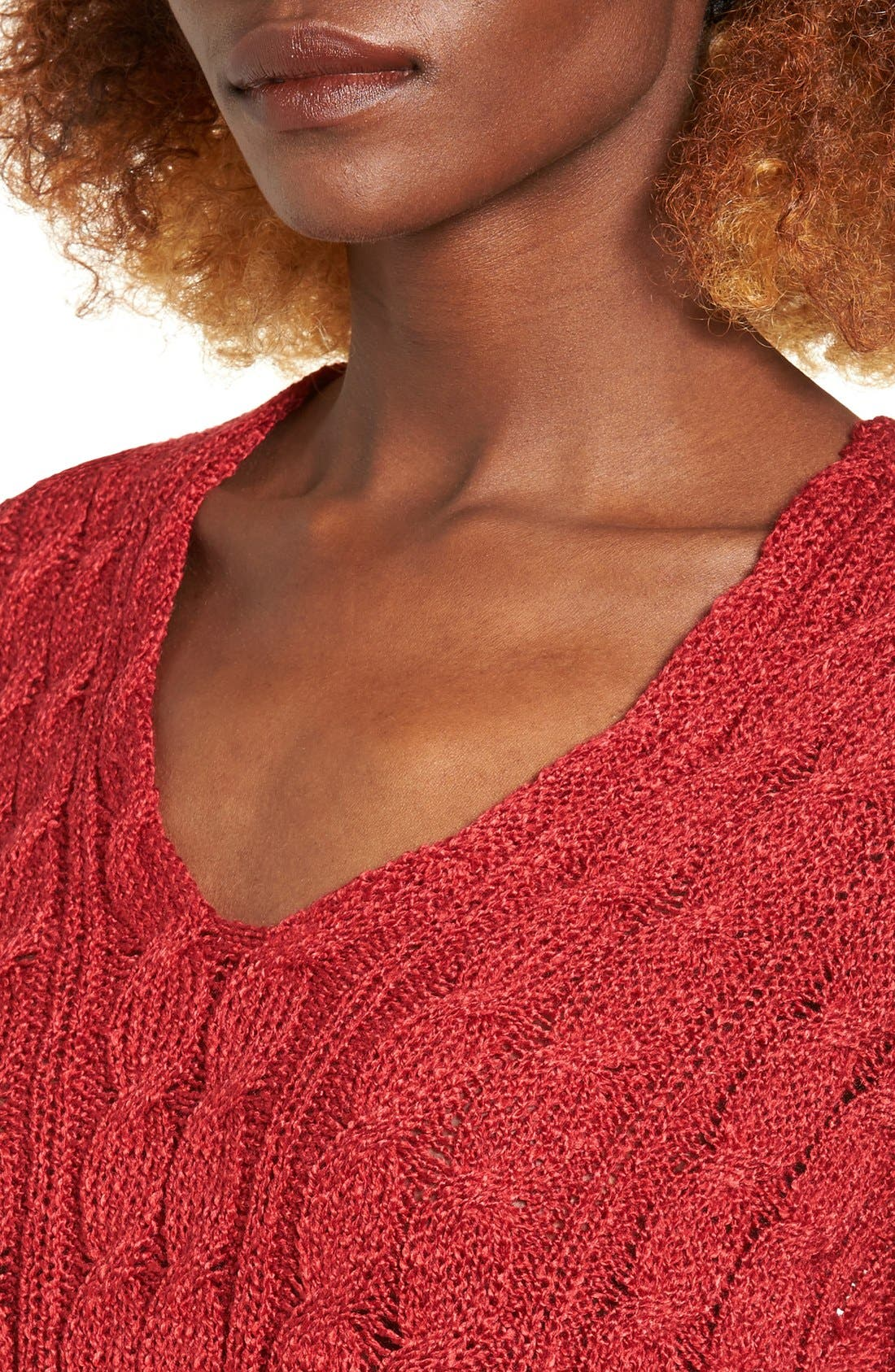 Alternate Image 4  - Love by Design Cable Knit Pullover
