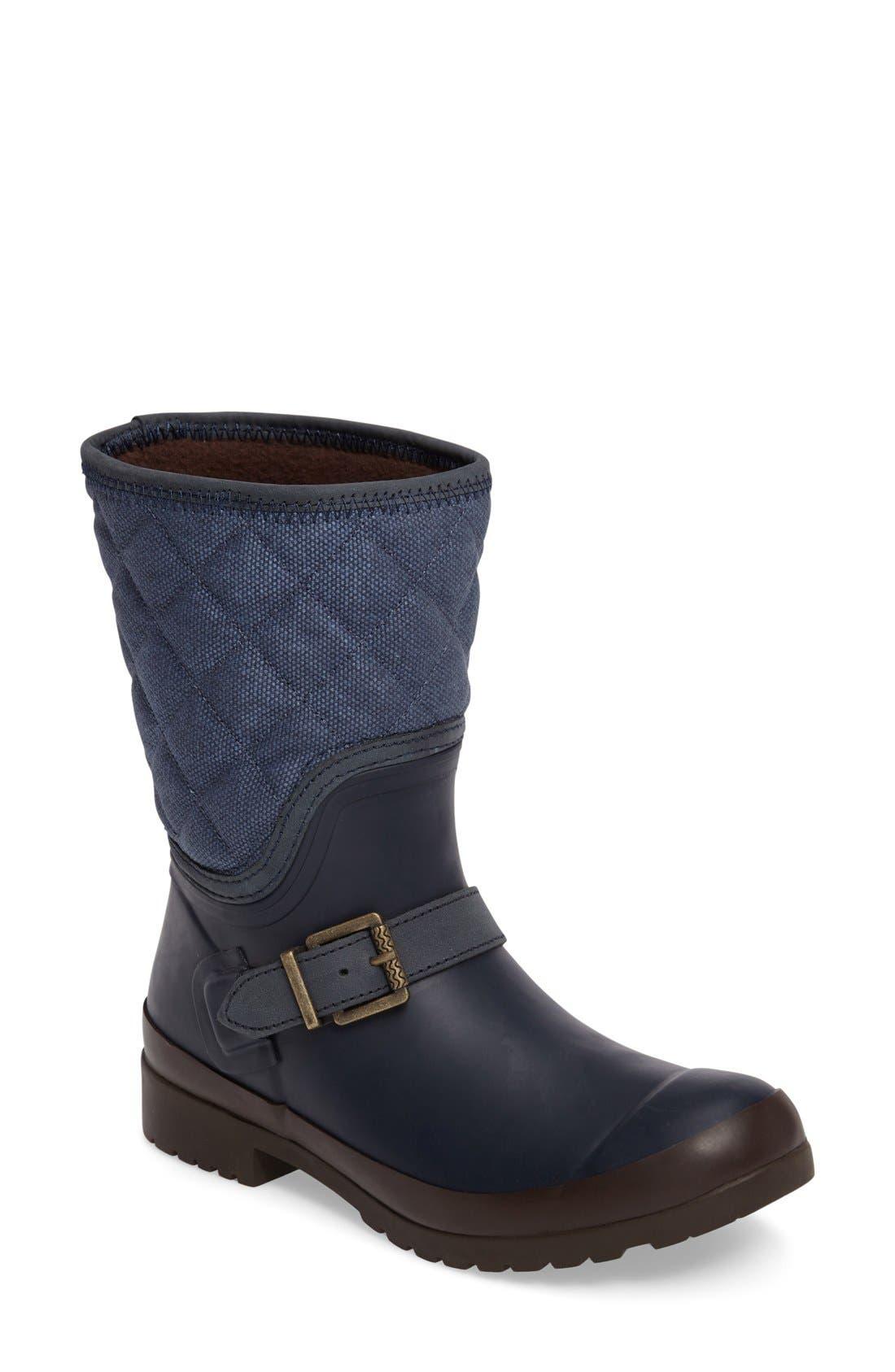 Main Image - Sperry Walker Gray Canvas Quilt Boot (Women)