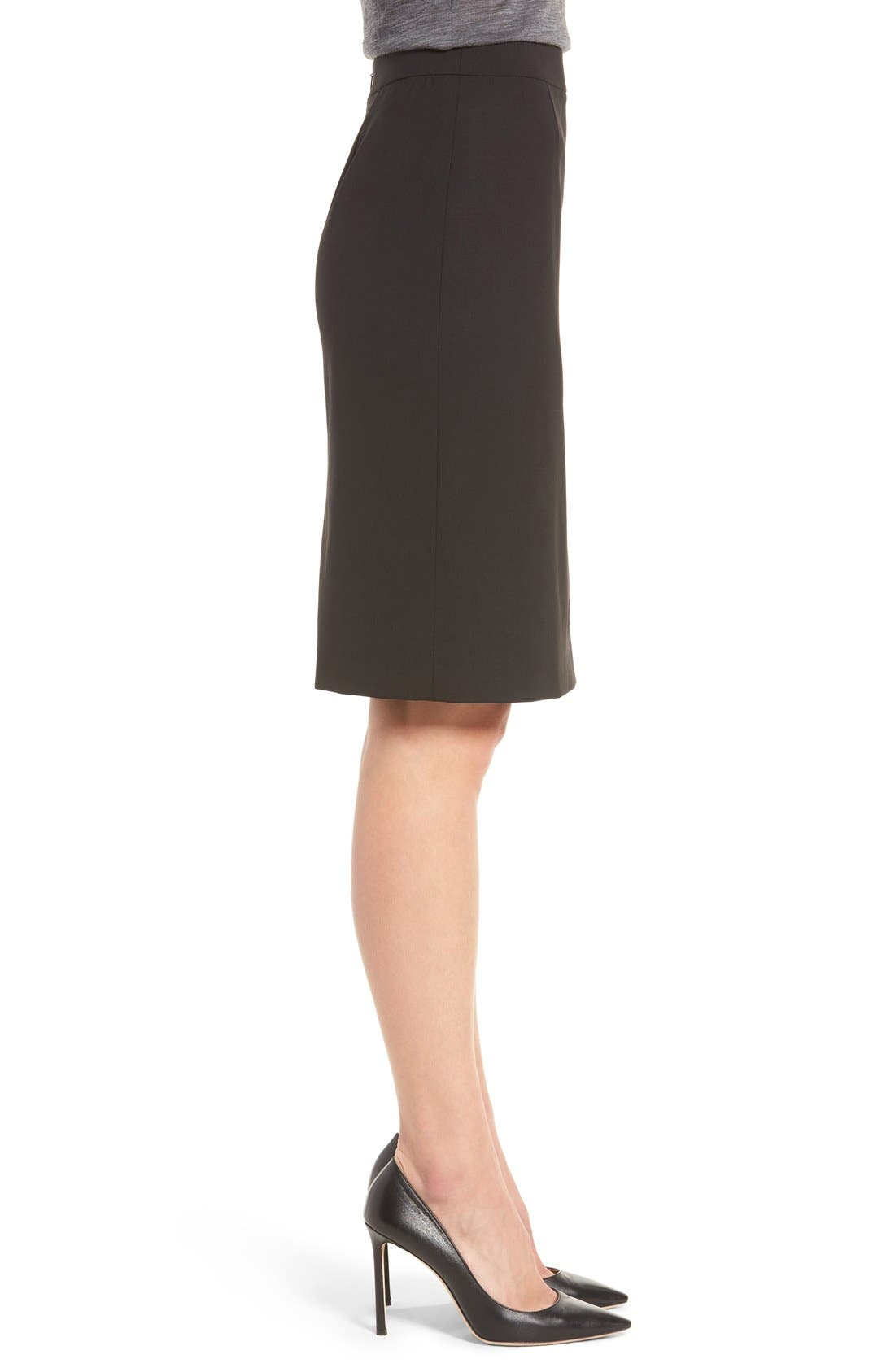 Alternate Image 4  - BOSS Vilea Stretch Wool Pencil Skirt (Regular & Petite)