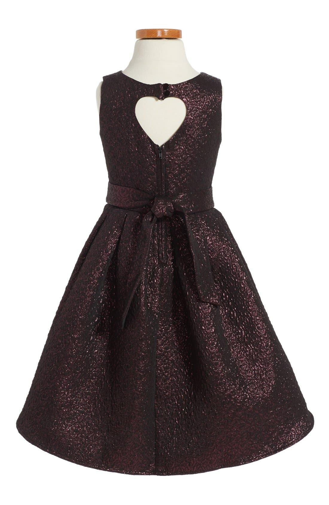 Alternate Image 2  - Zunie Brocade Fit & Flare Dress (Toddler Girls, Little Girls & Big Girls)