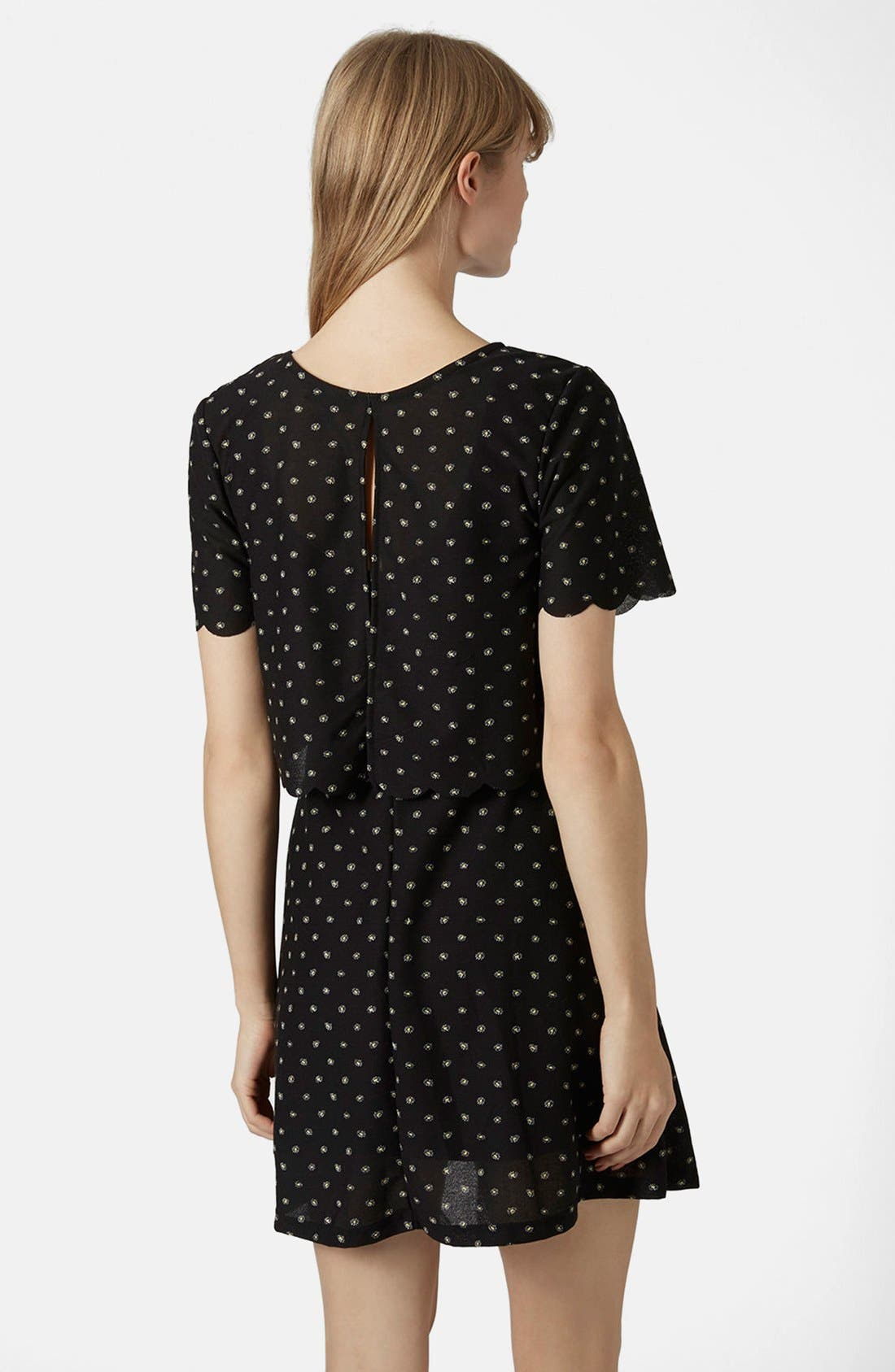 Alternate Image 2  - Topshop Daisy Overlay Dress
