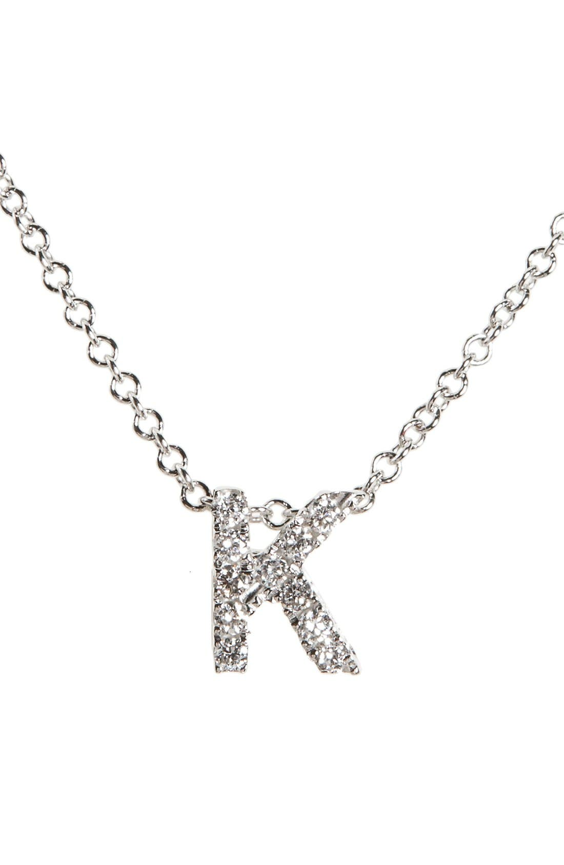 Bony Levy Pavé Diamond Initial Pendant Necklace (Nordstrom Exclusive)
