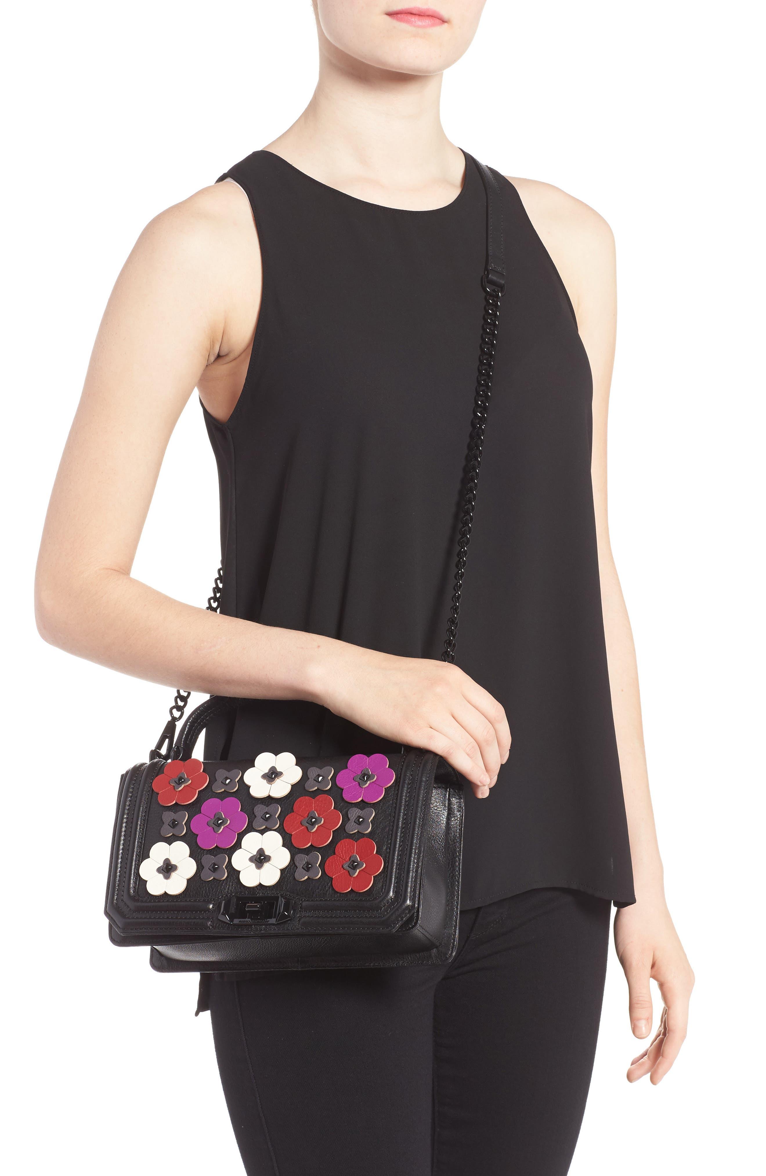 Alternate Image 2  - Rebecca Minkoff Love Floral Appliqué Crossbody Bag