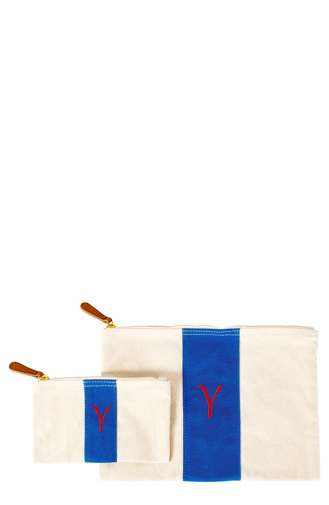 Main Image - Cathy's Concepts Personalized Canvas Clutch