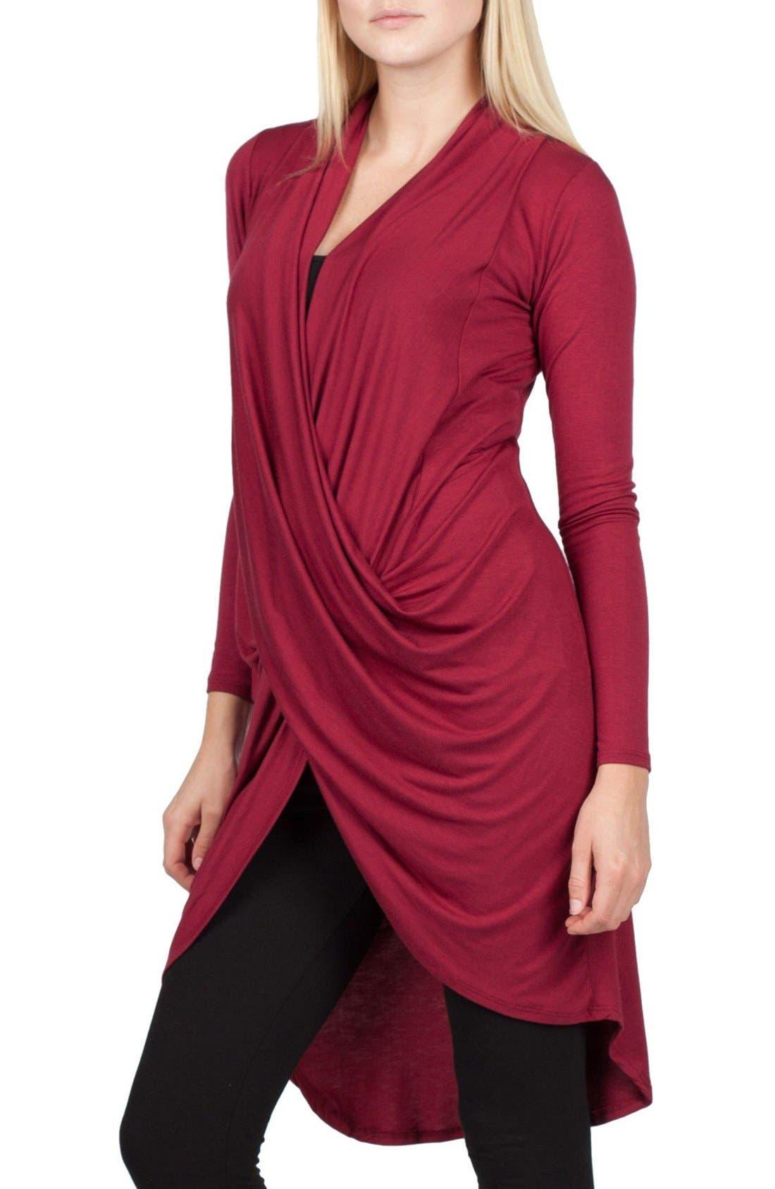 Nara Maternity/Nursing Cardigan,                         Main,                         color, Burgundy