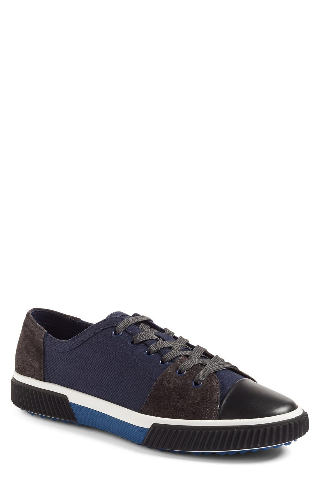 Linea Rossa Sneaker,                             Main thumbnail 1, color,                             Blue Fabric