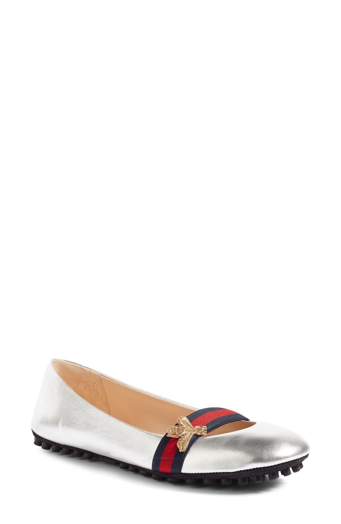 Main Image - Gucci 'Bayadere' Ballerina Flat (Women)